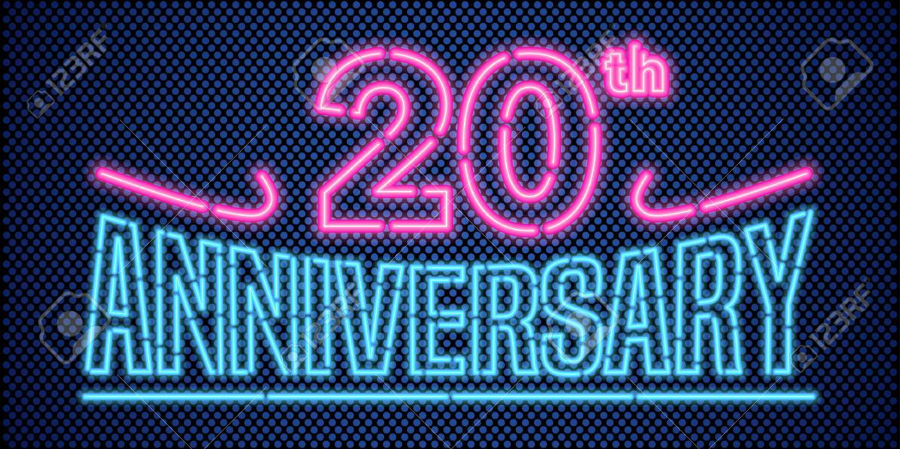 20 Years Anniversary Vector Illustration Banner Flyer Logo