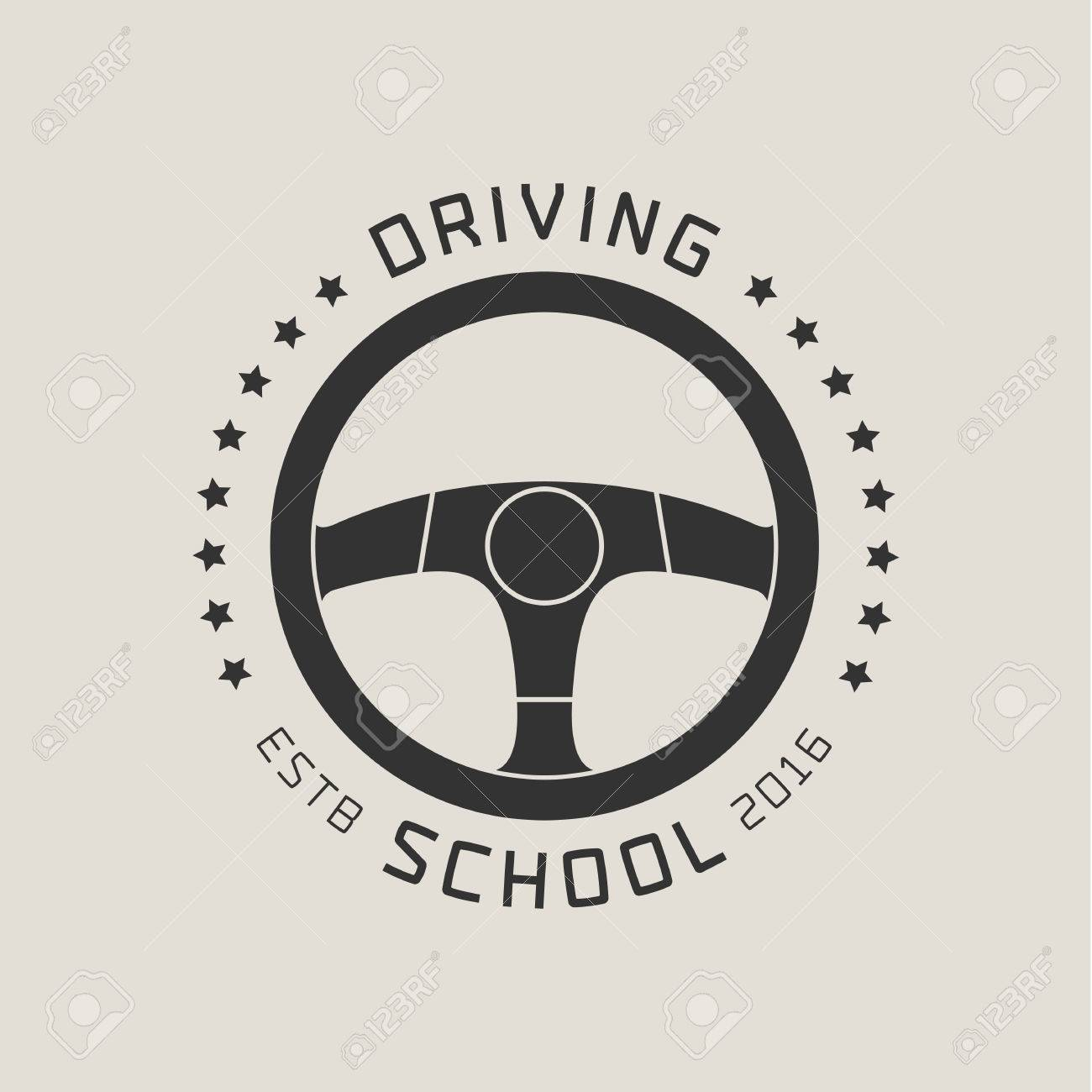 driving license school vector logo sign emblem steering wheel royalty free cliparts vectors and stock illustration image 69002181 driving license school vector logo sign emblem steering wheel
