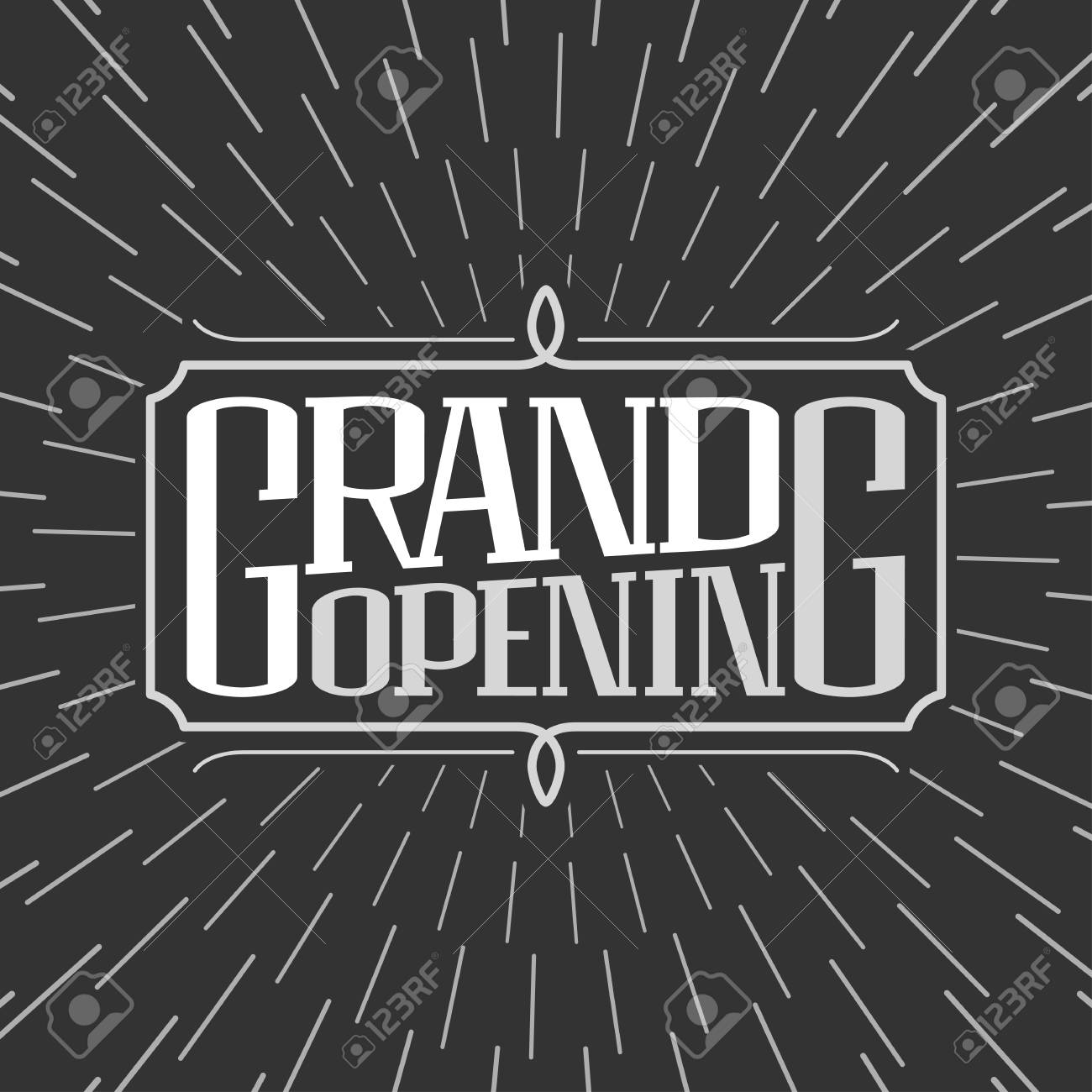 Grand Opening Vector Illustration, Background. Template Banner ...