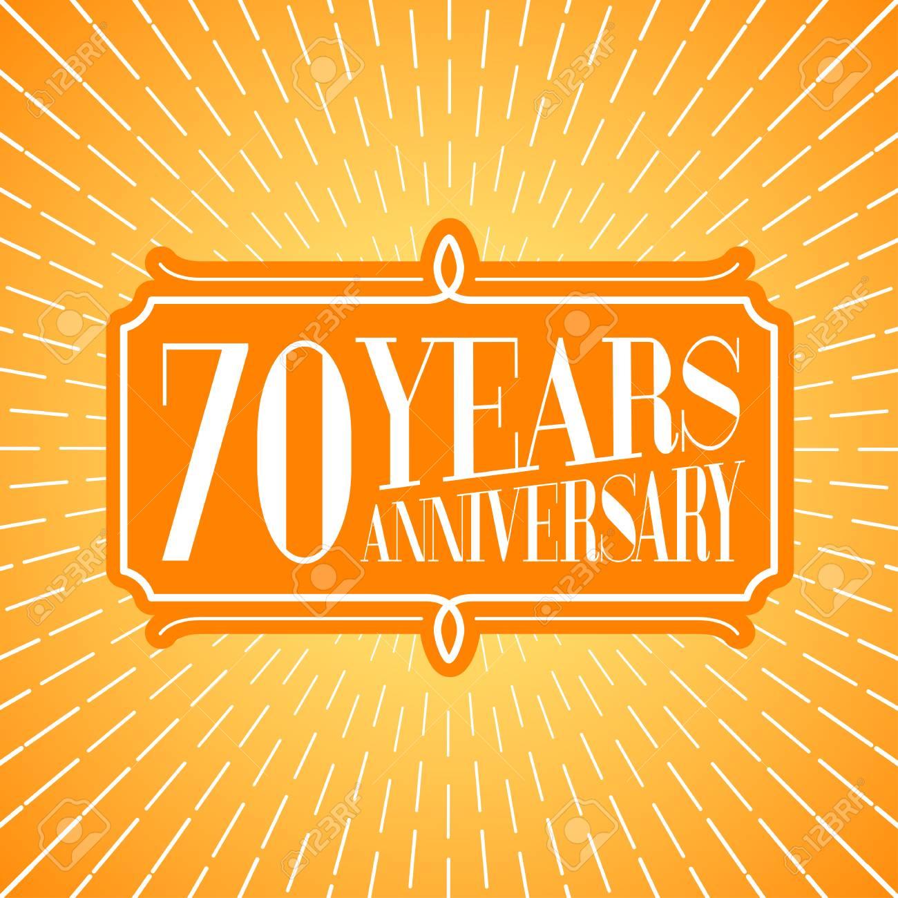 Icône De Vecteur De 70 Ans Anniversaire Logo élément De Design
