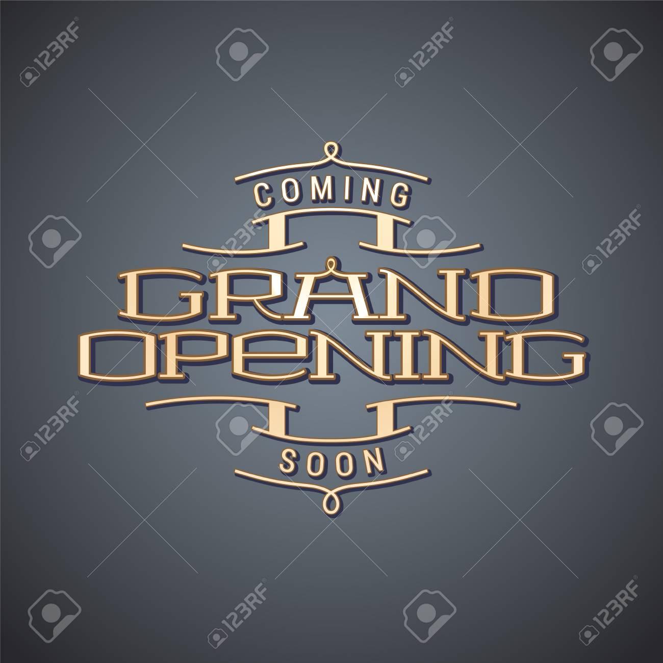 Grand Opening Vector Illustration, Background. Template Nonstandard ...