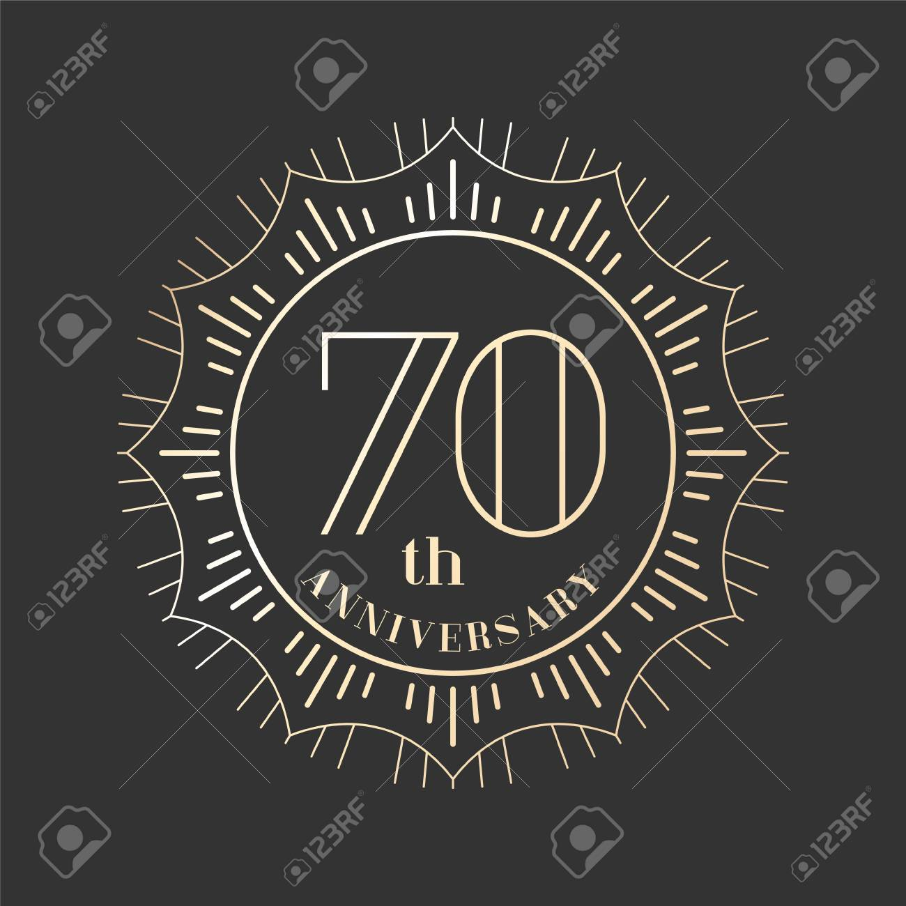 Graphic design element for 70th anniversary birthday card royalty graphic design element for 70th anniversary birthday card stock vector 71339892 biocorpaavc