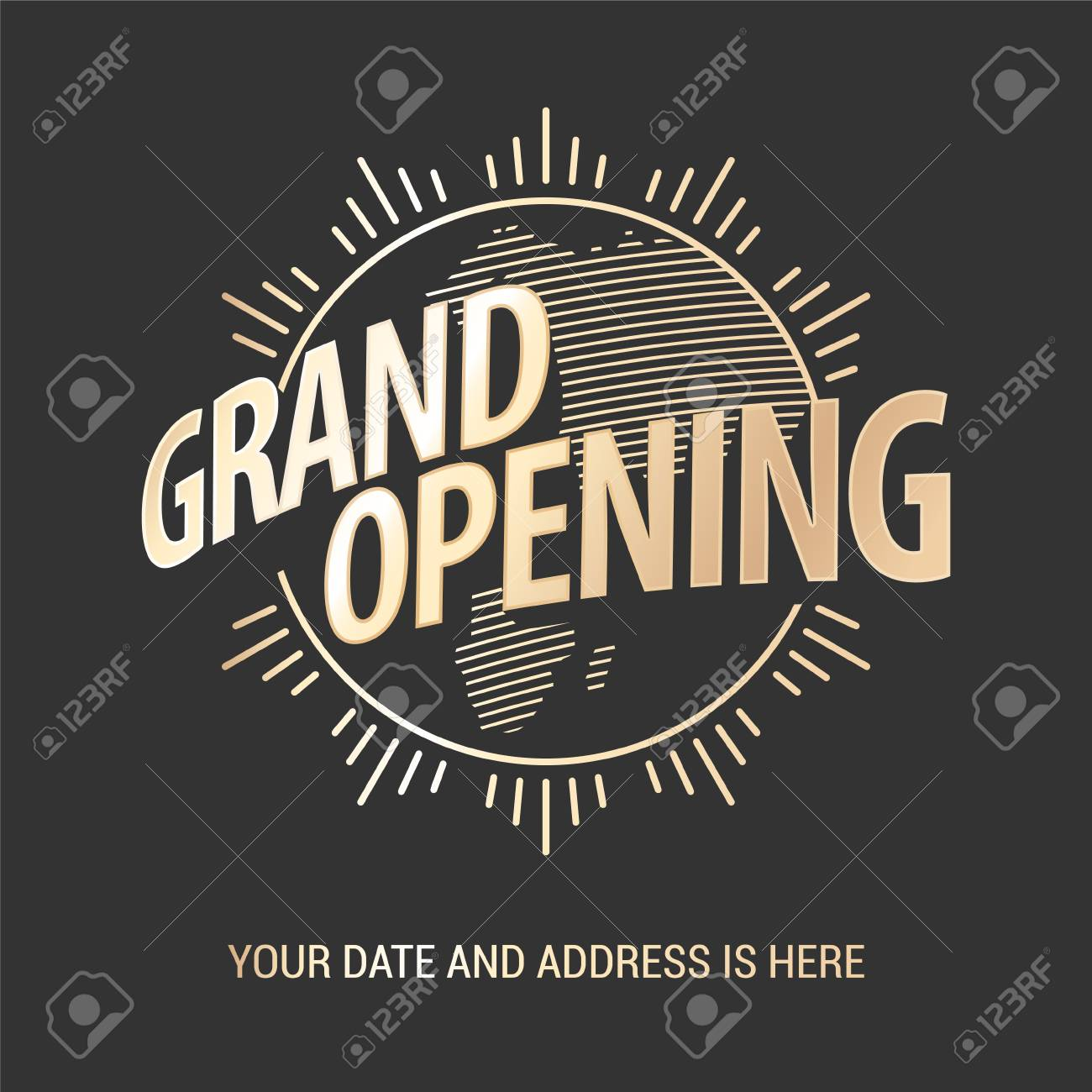 Grand Opening Vector Banner. Template Graphic Design Element.. Stock ...