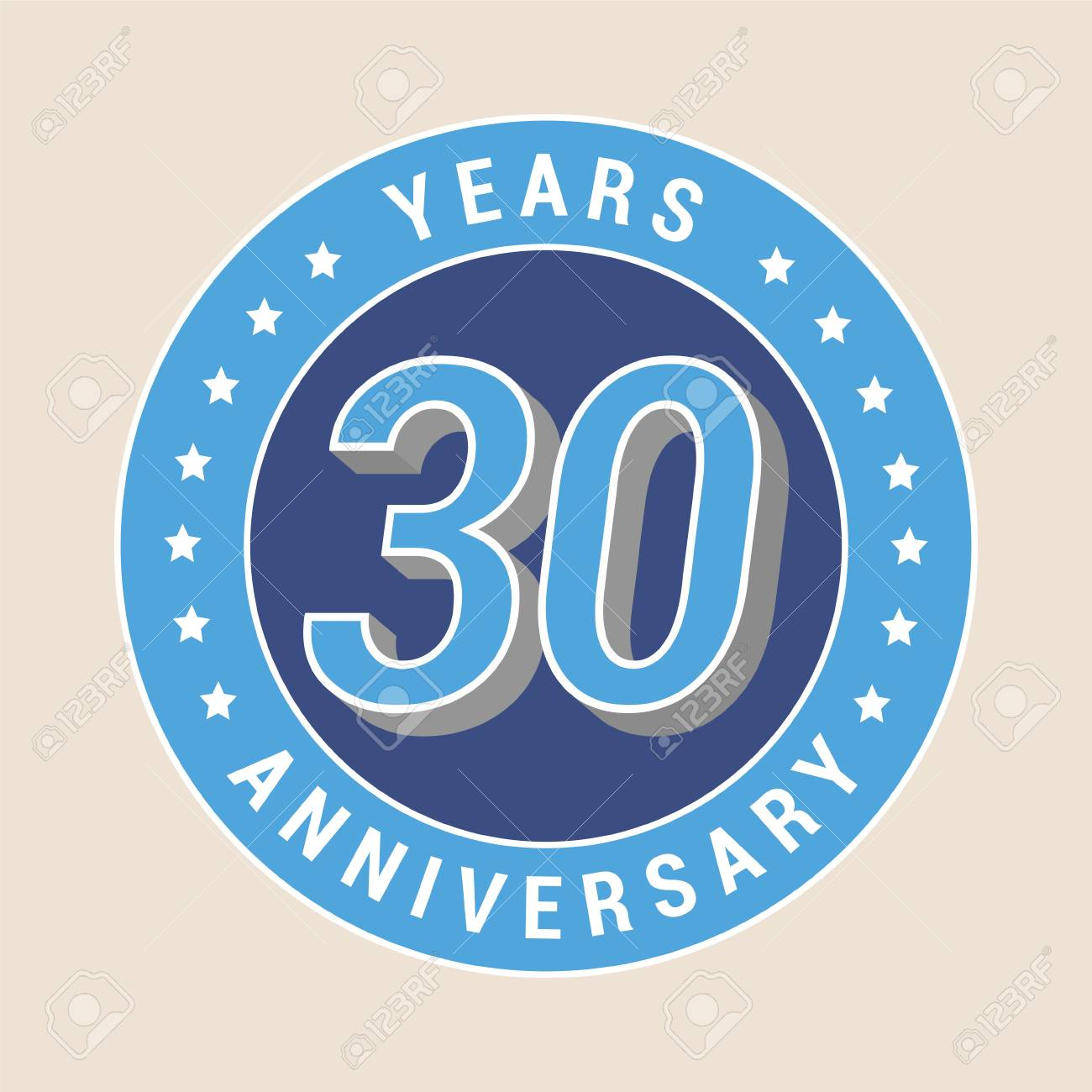 30 years anniversary vector icon emblem design element with