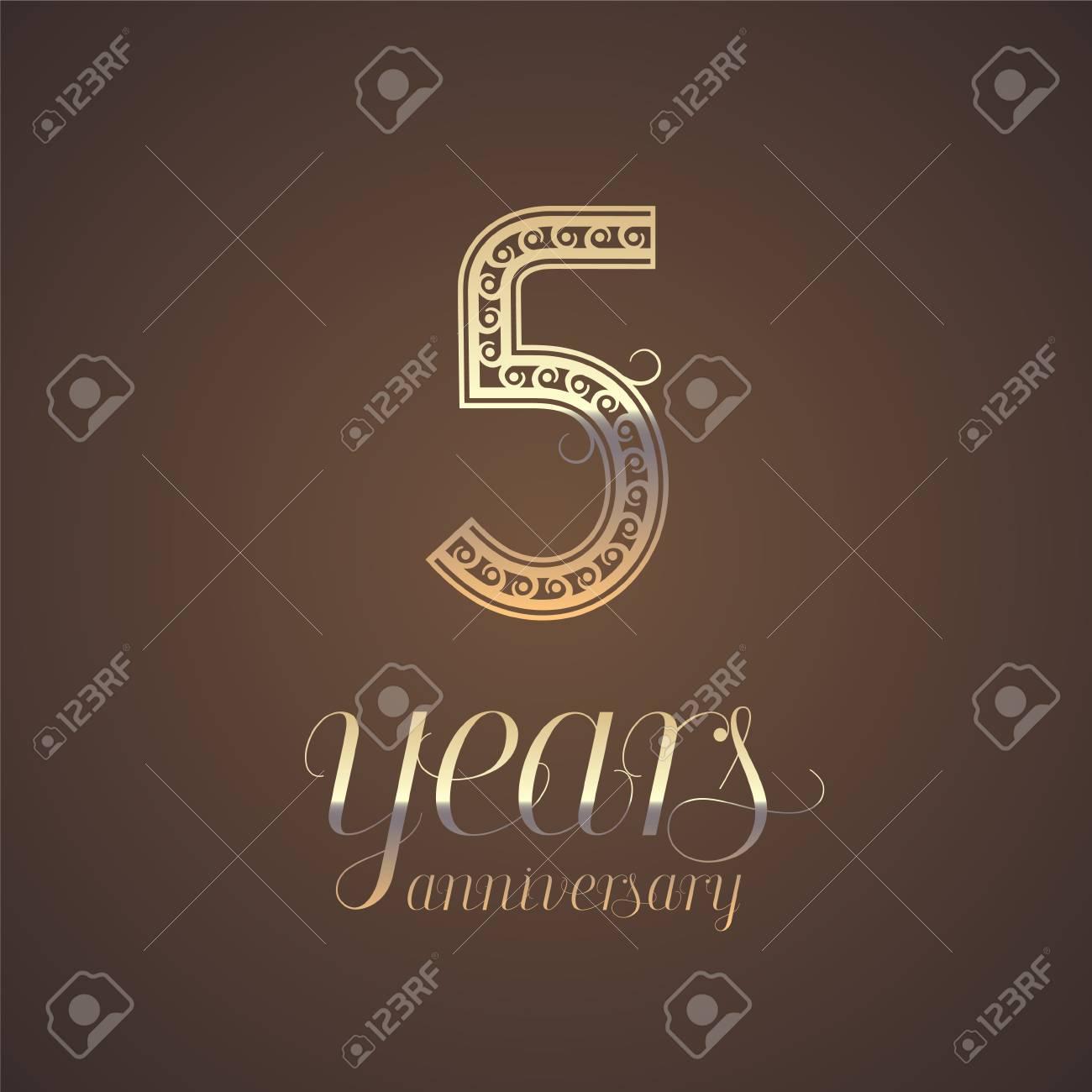 5 years anniversary vector icon symbol graphic design element 5 years anniversary vector icon symbol graphic design element with golden number for 5th biocorpaavc Choice Image