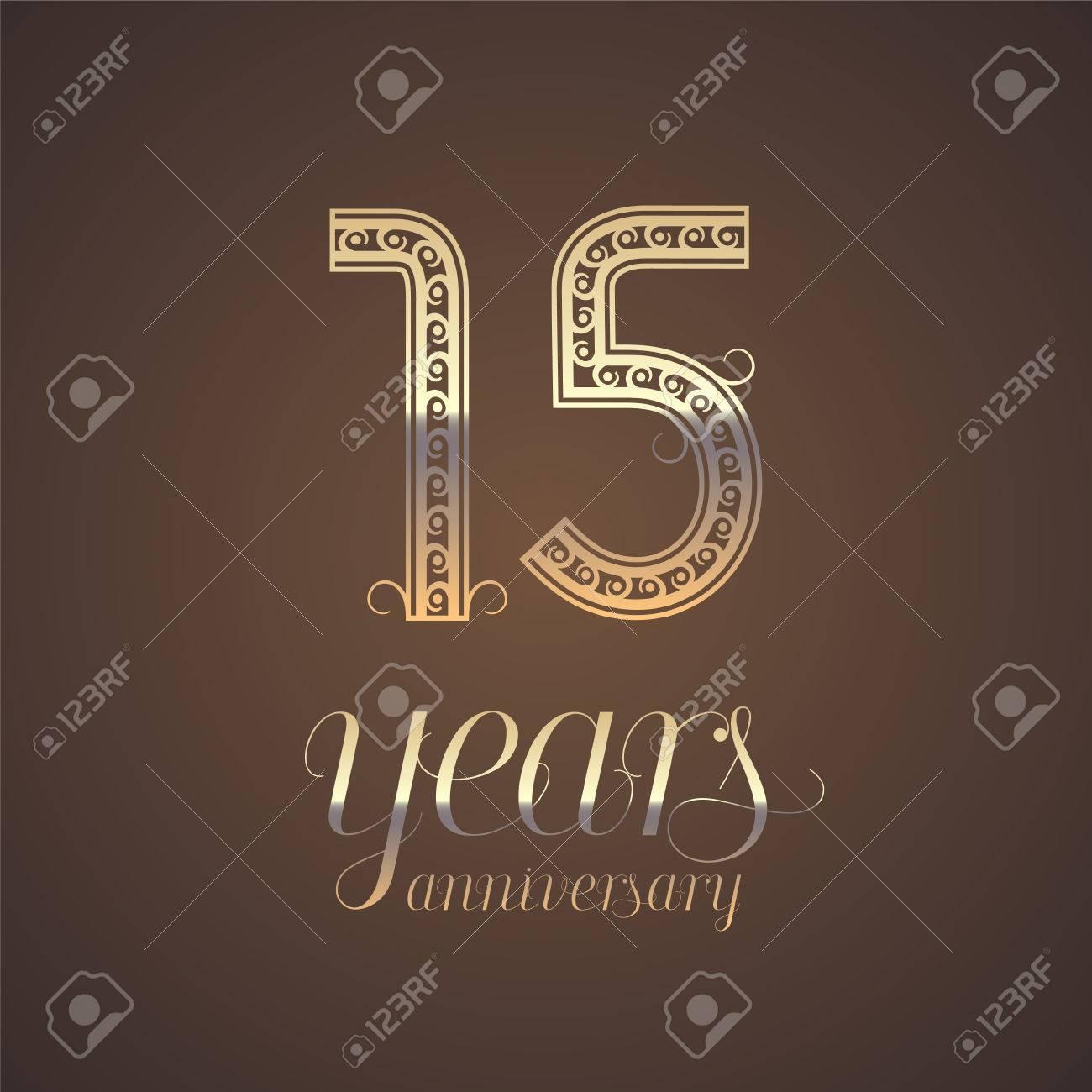 15 Years Anniversary Vector Icon Symbol Graphic Design Element