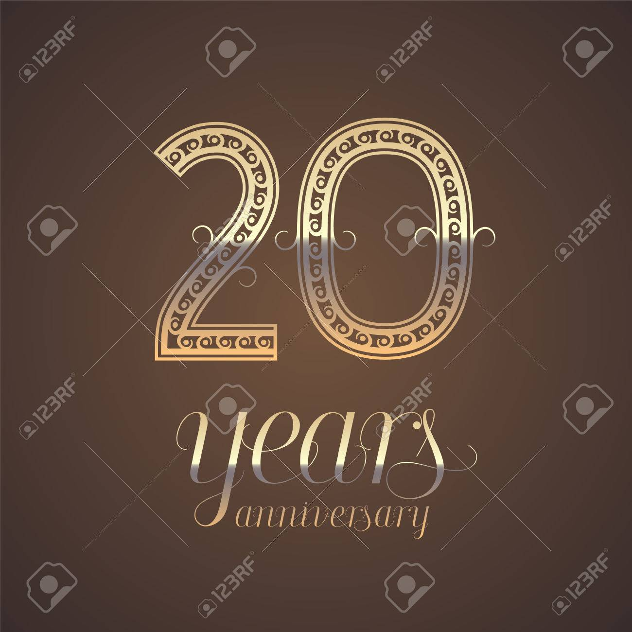 20 years anniversary vector icon symbol graphic design element 20 years anniversary vector icon symbol graphic design element with golden number for 20th kristyandbryce Choice Image