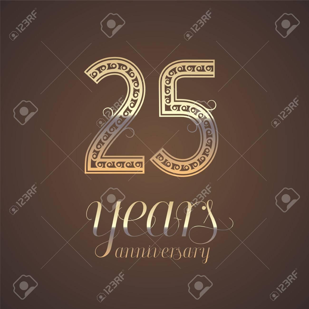25 Years Anniversary Vector Icon Symbol Graphic Design Element