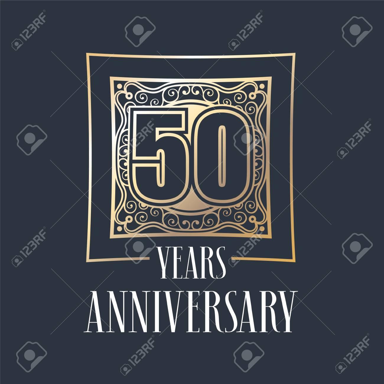 50 Años De Aniversario Icono De Vector, Logotipo. Elemento De Diseño ...