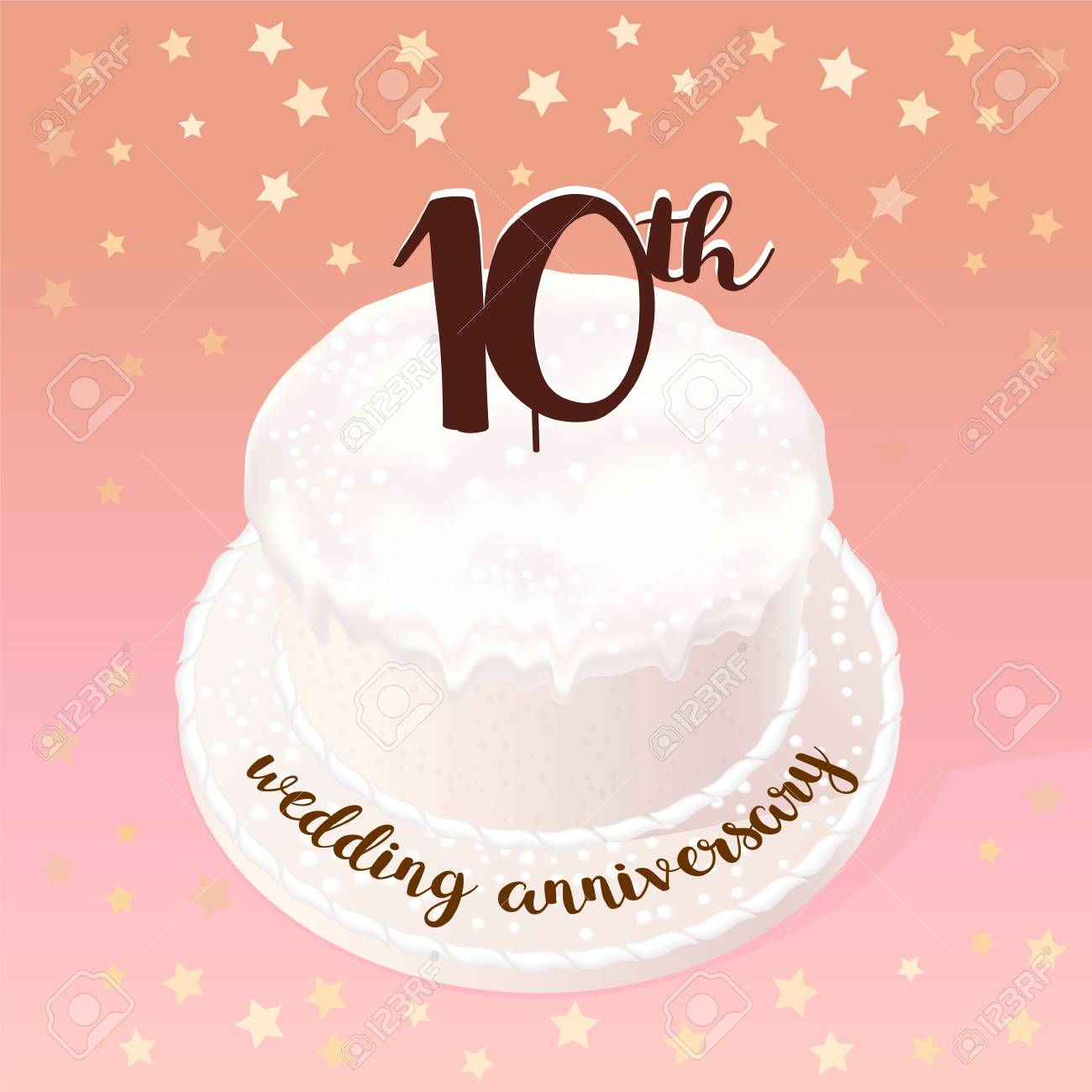 10 Years Of Wedding Or Marriage Vector Icon Illustration Design Royalty Free Cliparts Vectors And Stock Illustration Image 81560464