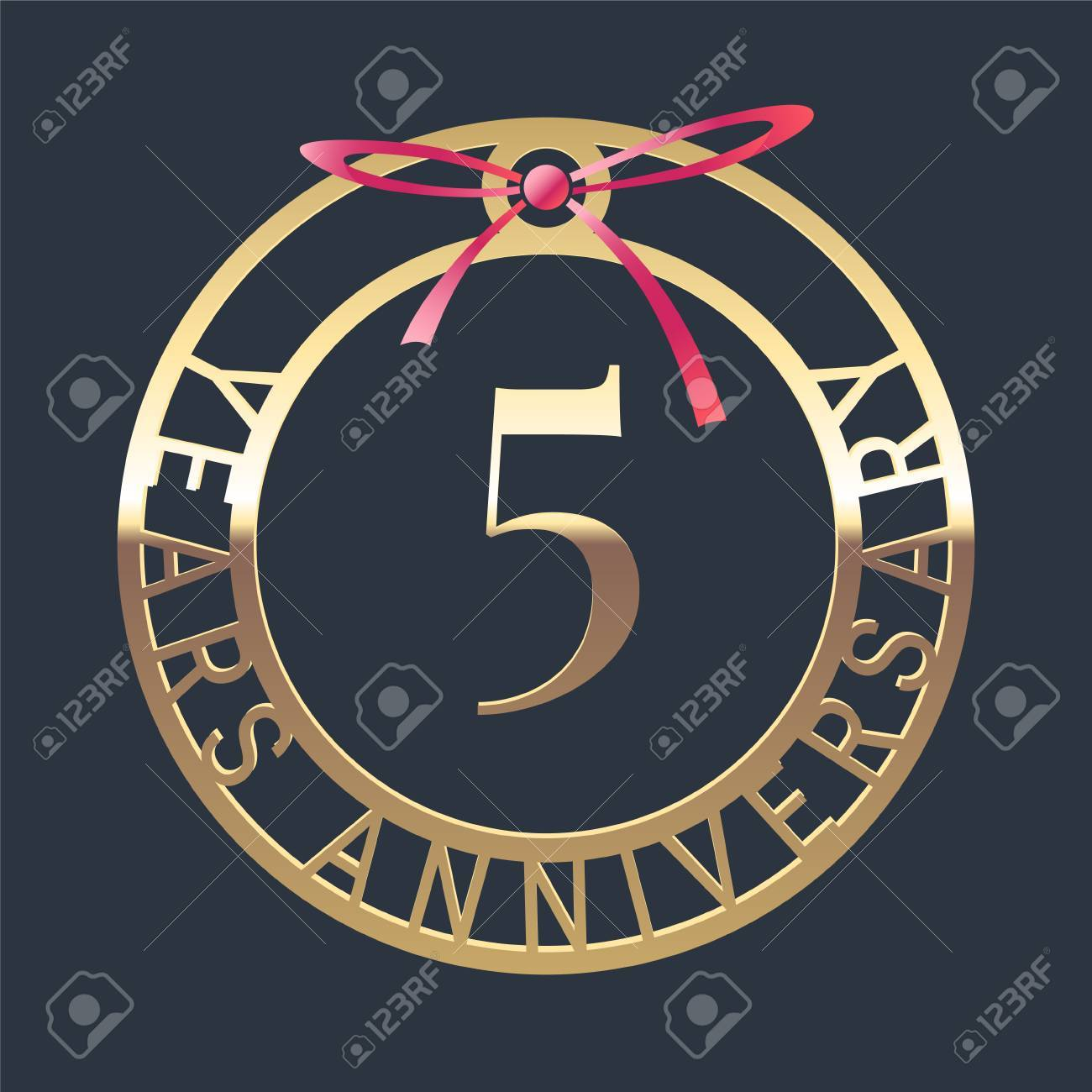 5 years anniversary vector icon symbol graphic design element 5 years anniversary vector icon symbol graphic design element or logo with golden medal biocorpaavc Choice Image