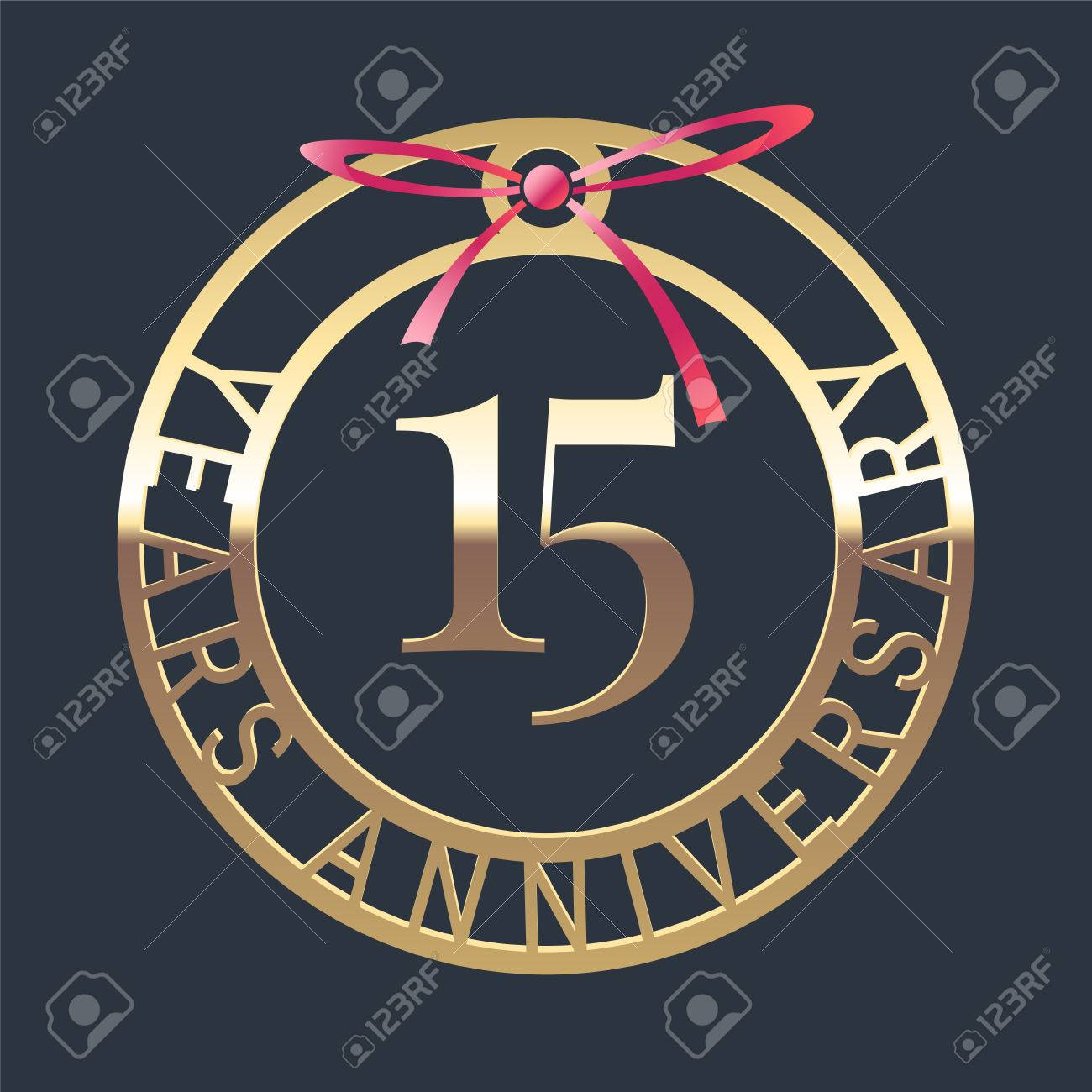 15 Years Anniversary Vector Icon Symbol Graphic Design Element