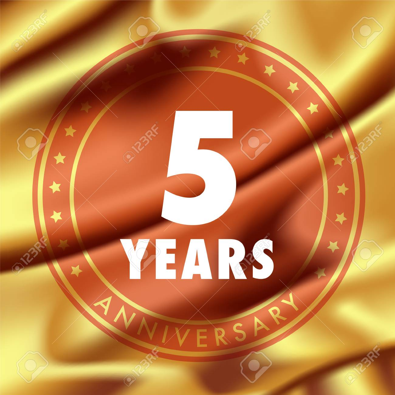 5 Years Anniversary Vector Icon Logo Template Design Element With