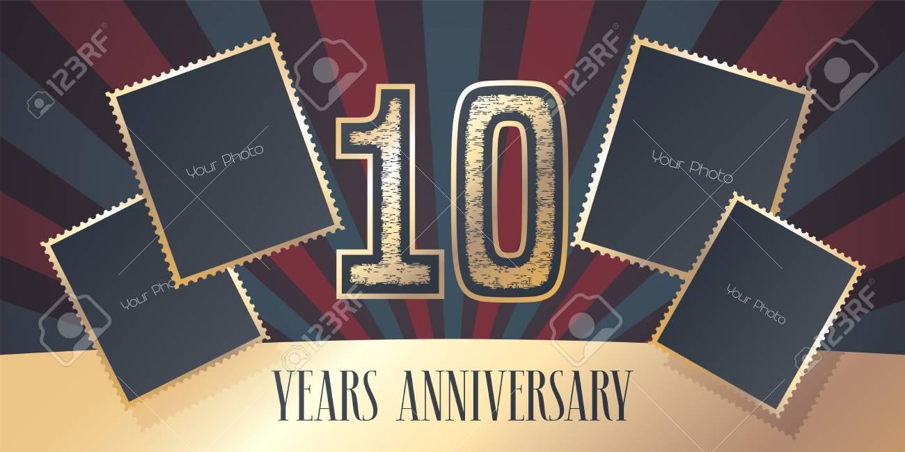10 Jahre Jubiläum Vektor Icon, Logo. Schablonengestaltungselement ...