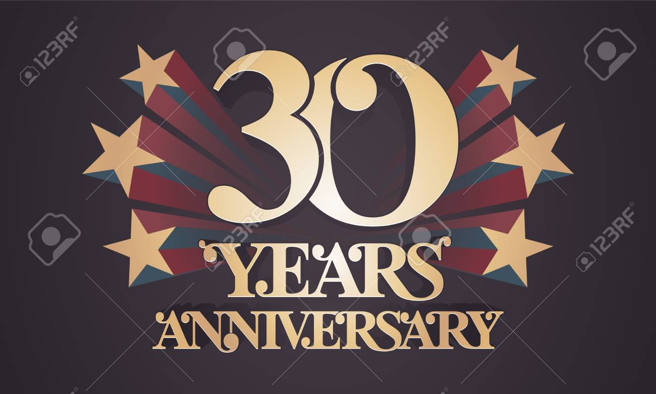 30 years anniversary vector icon logo. graphic design element