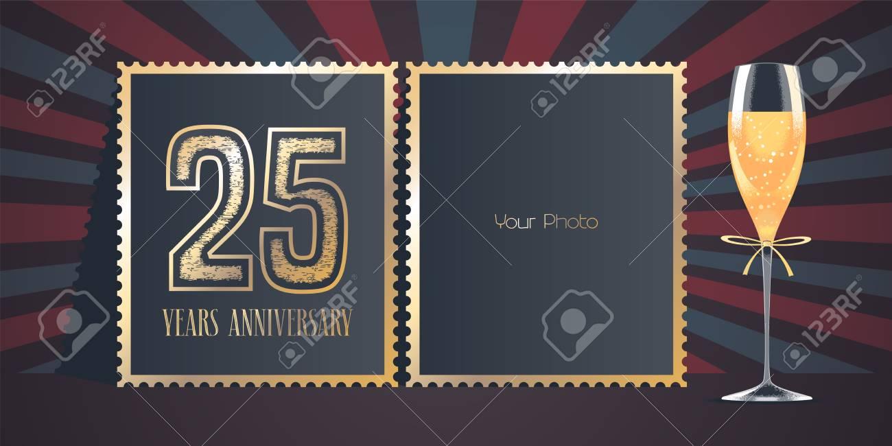 25 Jahre Jubiläum Vektor Icon, Logo. Schablonendesign, Grußkarte Mit ...
