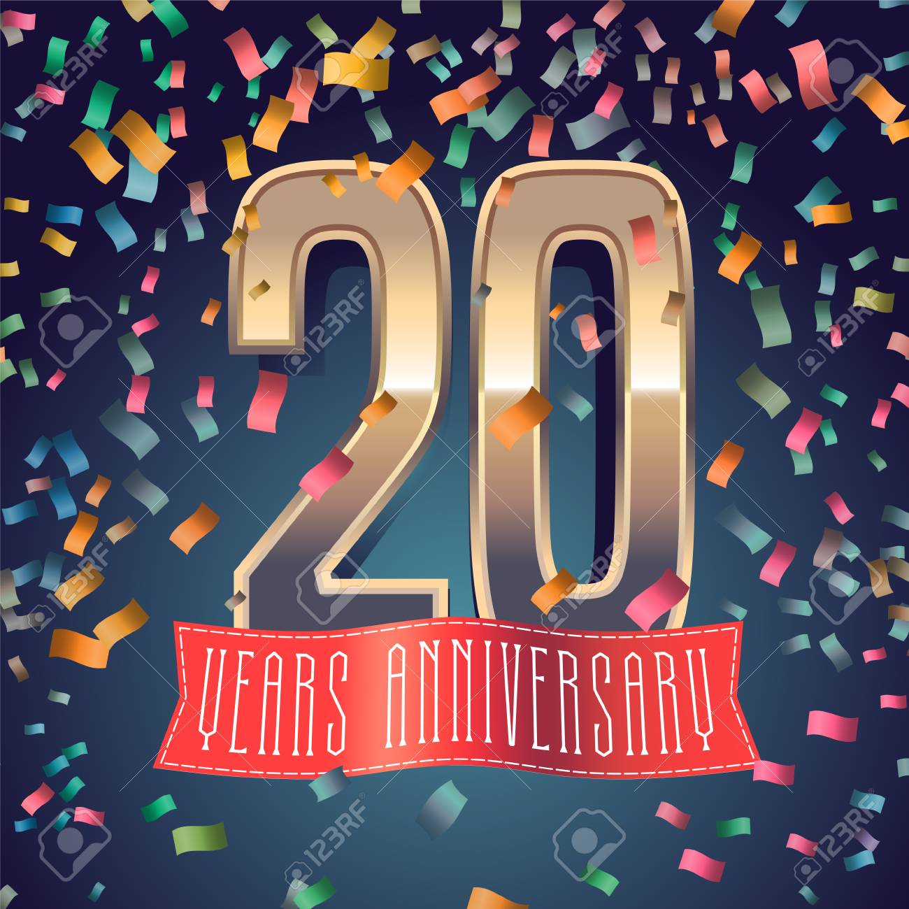 20 Years Anniversary Icon Royalty Free Cliparts Vectors And Stock
