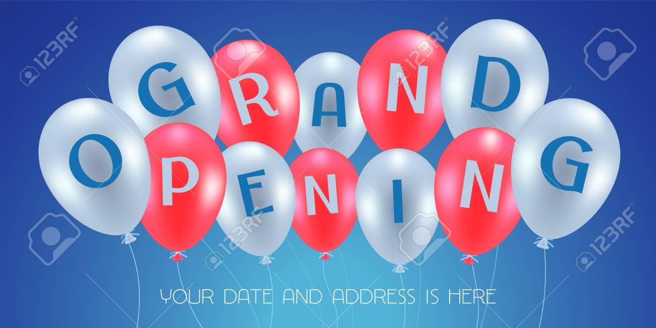 Ilustración De Vector De Gran Inauguración, Fondo Para Nueva Tienda ...