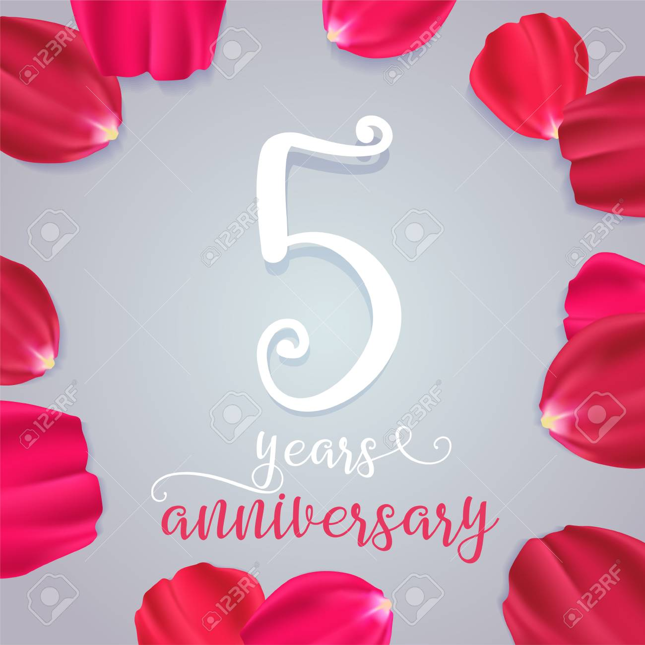 5 Years Anniversary Vector Icon Logo Graphic Design Element