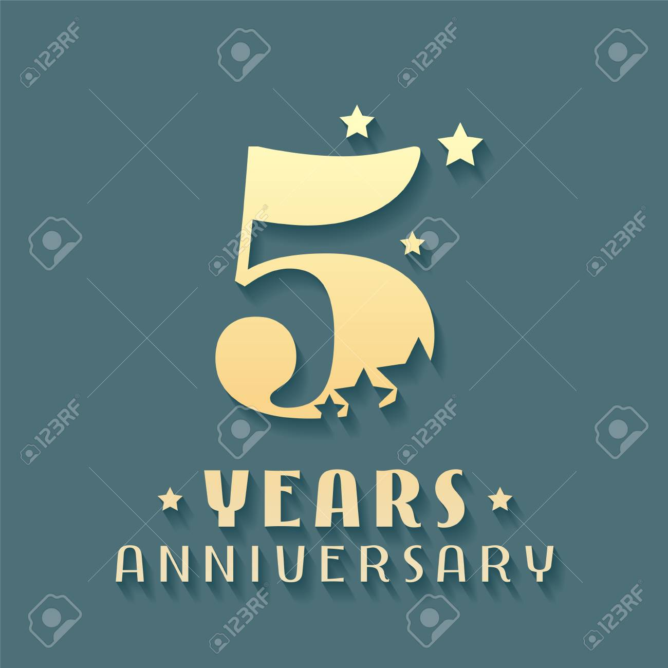 5 Years Anniversary Vector Icon Symbol Logo Graphic Design
