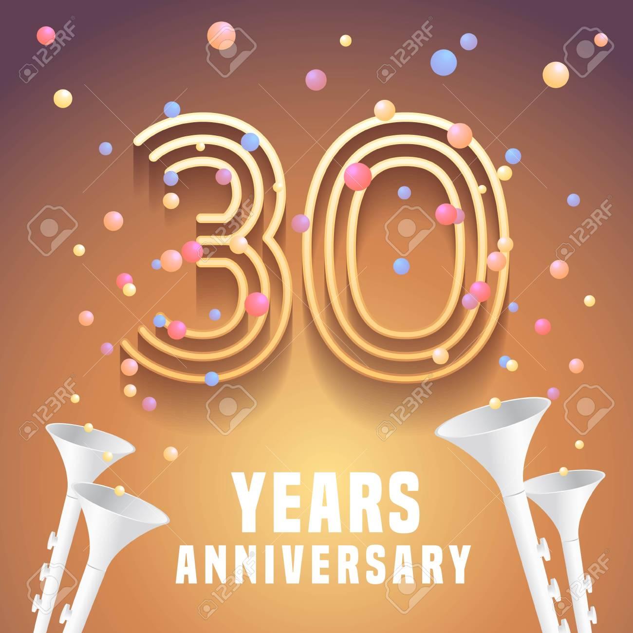 30 Years Anniversary Vector Icon Symbol Graphic Design Element