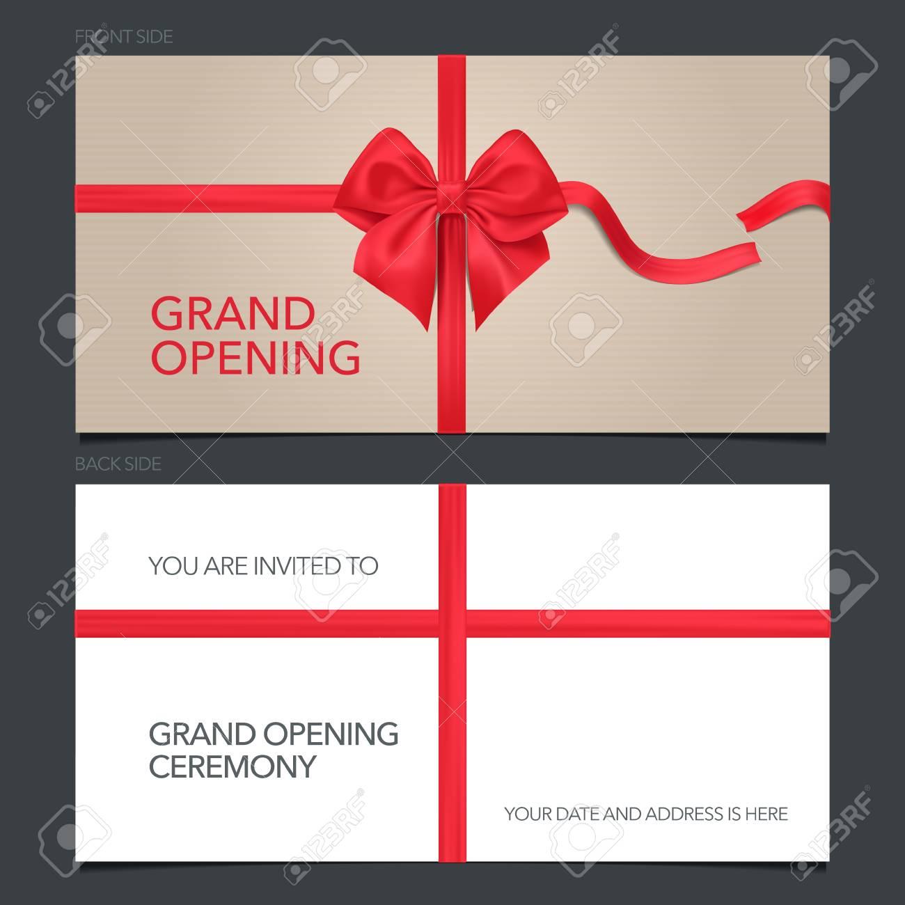 Grand Opening Vector Illustration Invitation Card Template