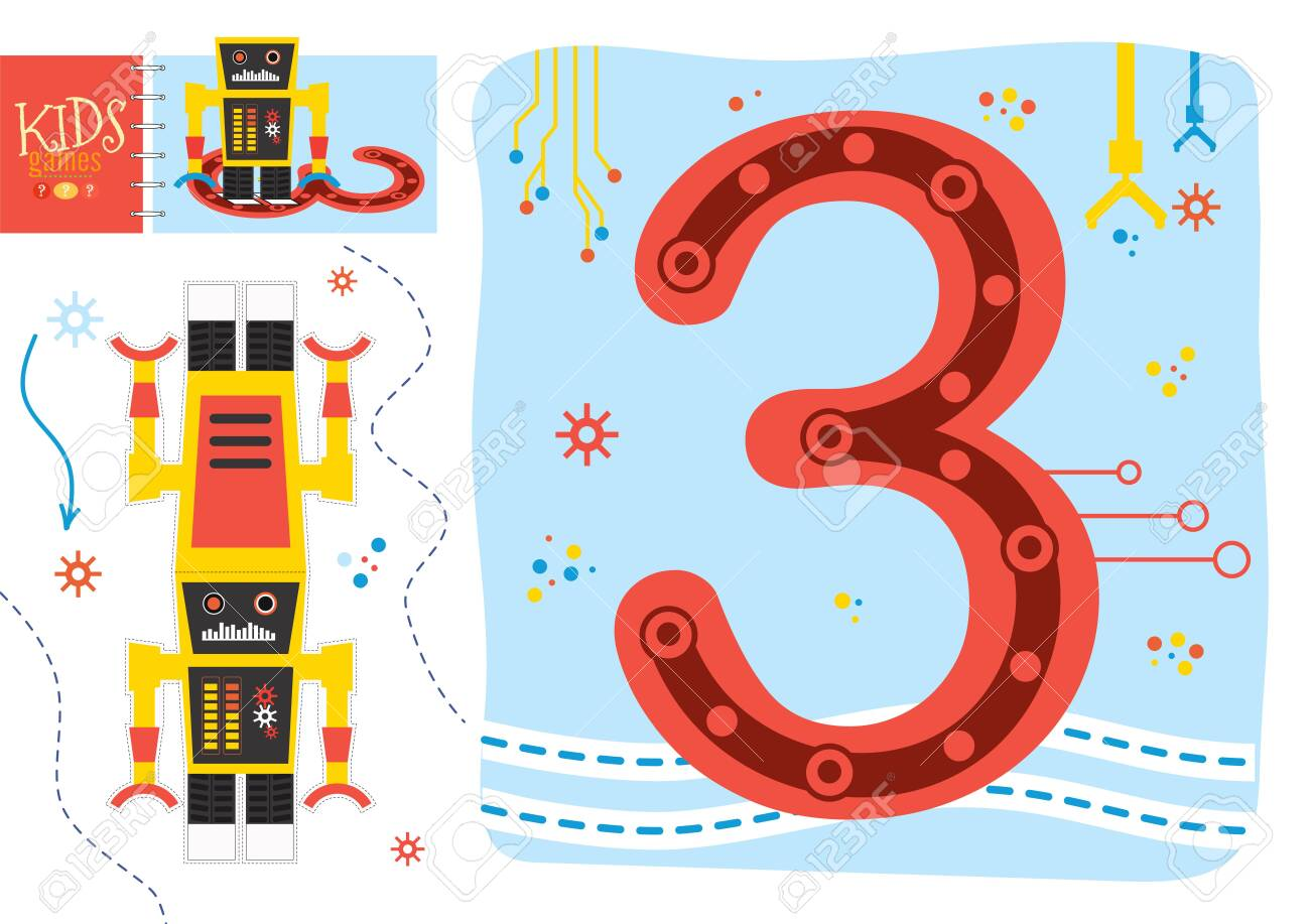 Learn How To Write Number 3 For Preschool Kids Vector Illustration Royalty Free Cliparts Vectors And Stock Illustration Image 122591306