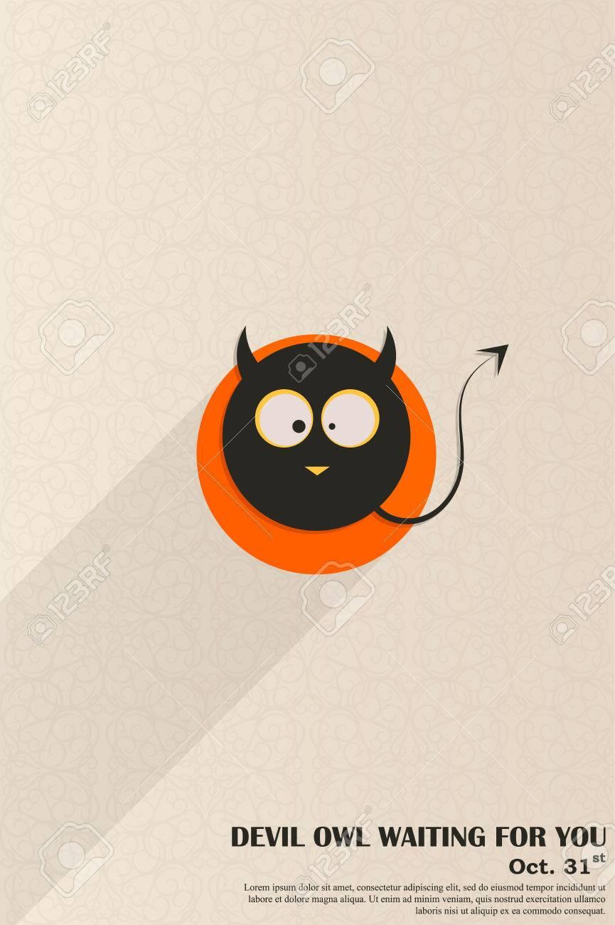Devil owl halloween invites ready slim design party invitation devil owl halloween invites ready slim design party invitation vector graphics trendy design stopboris Gallery