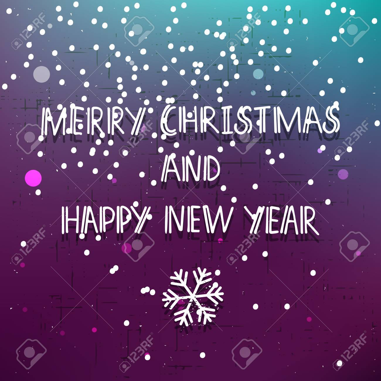 vector vector purple merry christmas and happy new year invitation card with snowflake snow and glitter