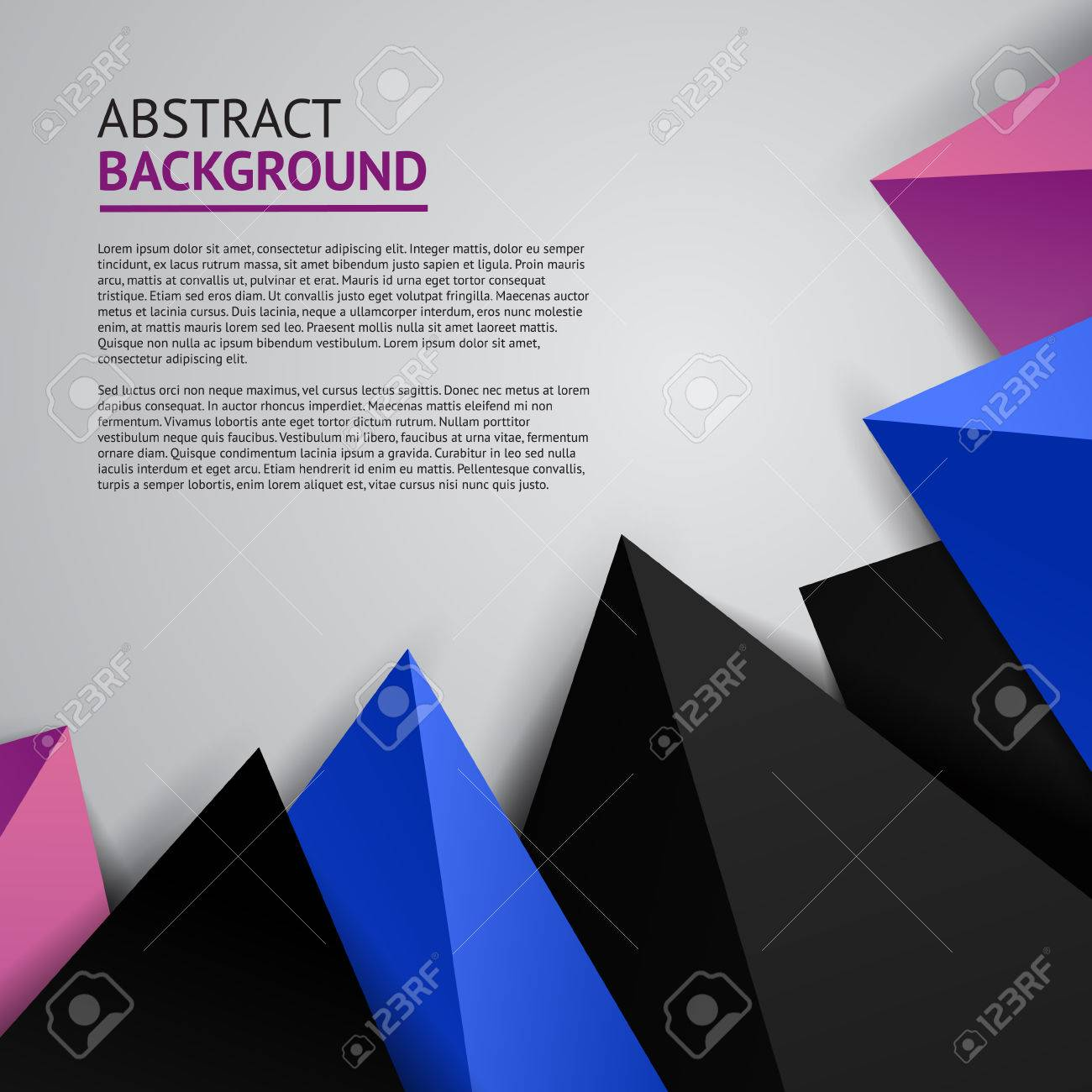 Abstract Cover Geometric Modern Style Design Template Corner