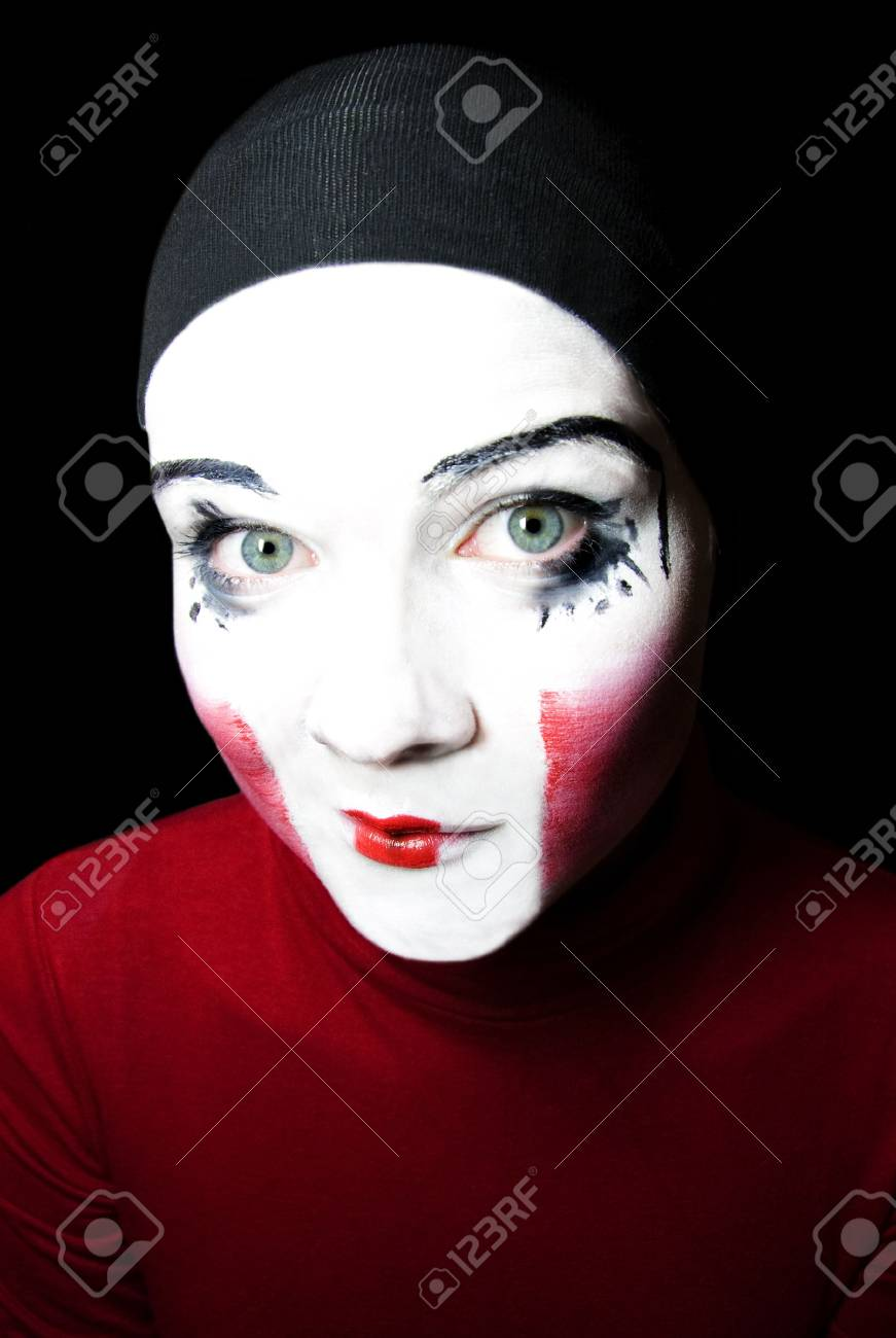 Portrait of the cheerful mime Stock Photo - 4856014