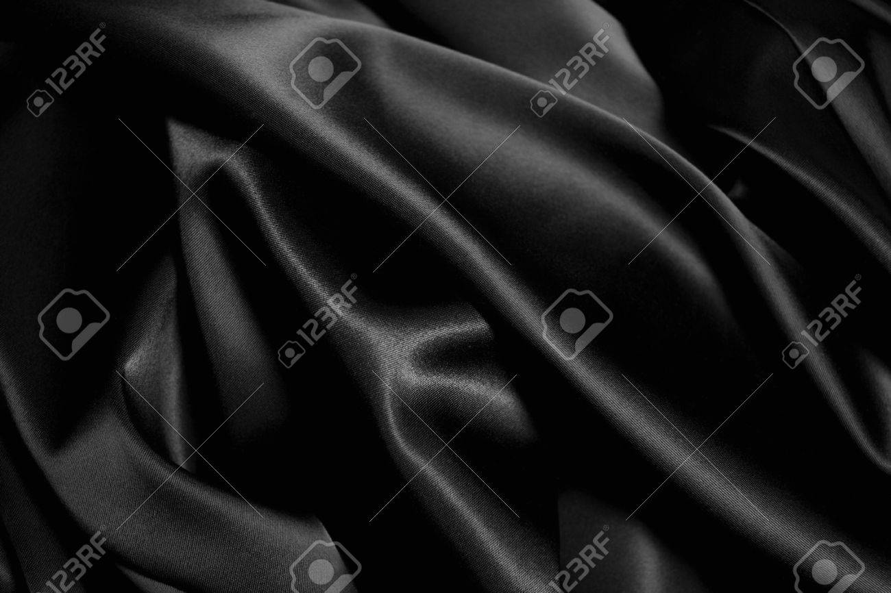 texture of a black  satin close up Stock Photo - 6371488