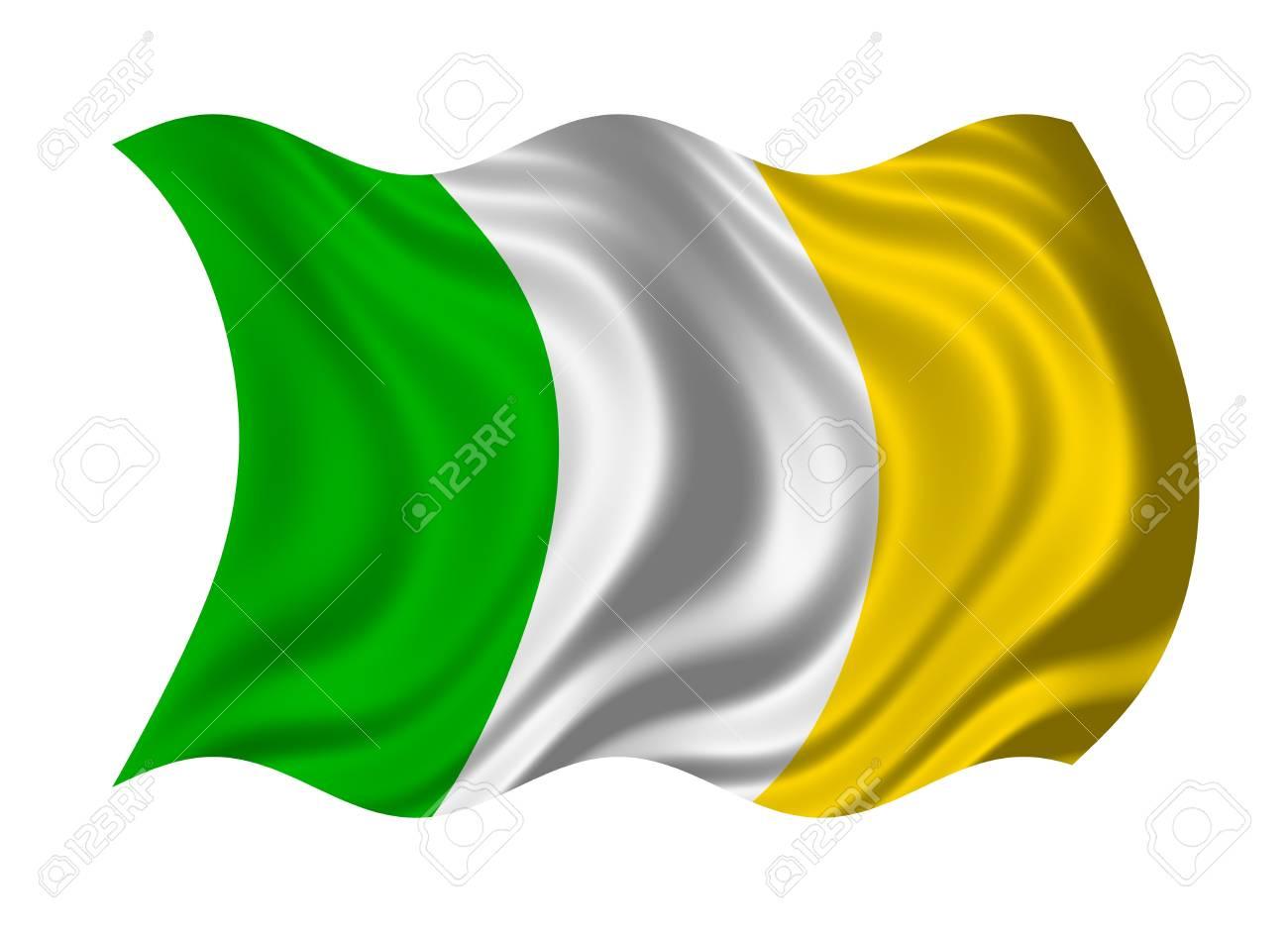 Flag of Ireland isolated on white background Stock Photo - 6951914