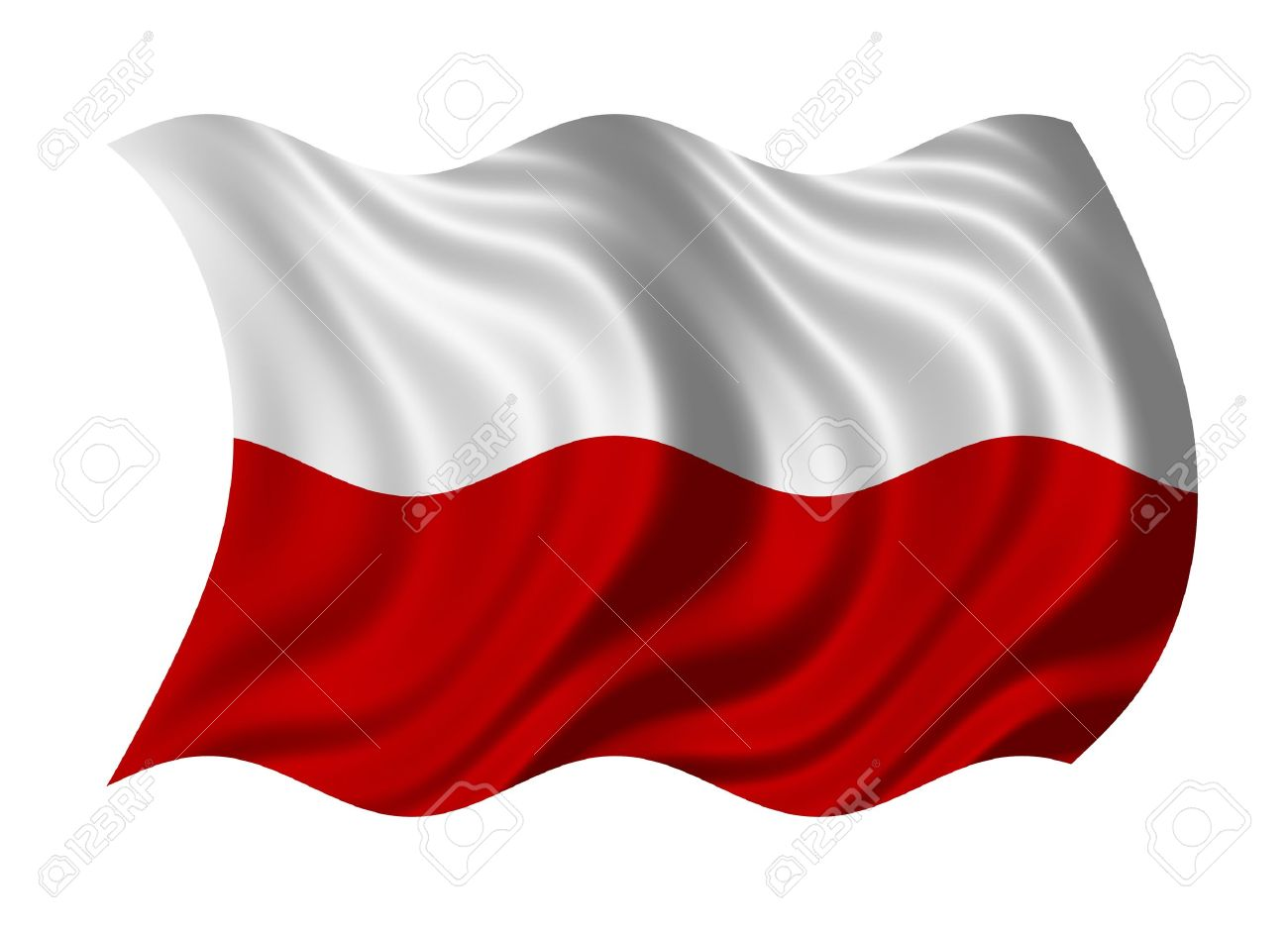 flag of poland isolated on white background stock photo picture
