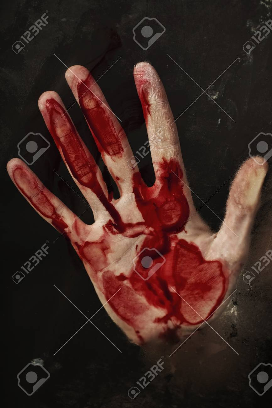 Human hand with blood. Halloween theme. Stock Photo - 7671384