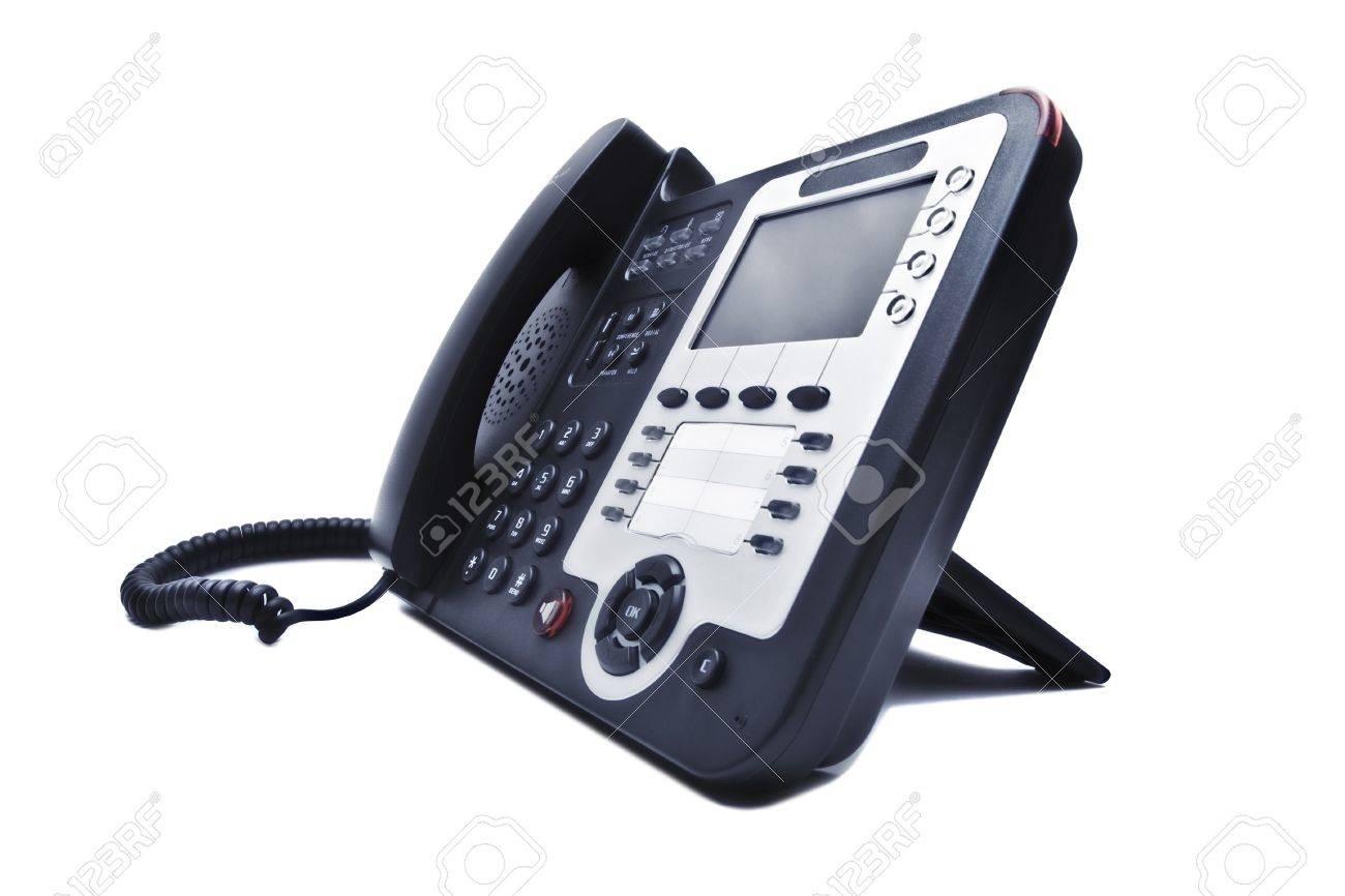 black phone closeup isolated on white background Stock Photo - 9650791