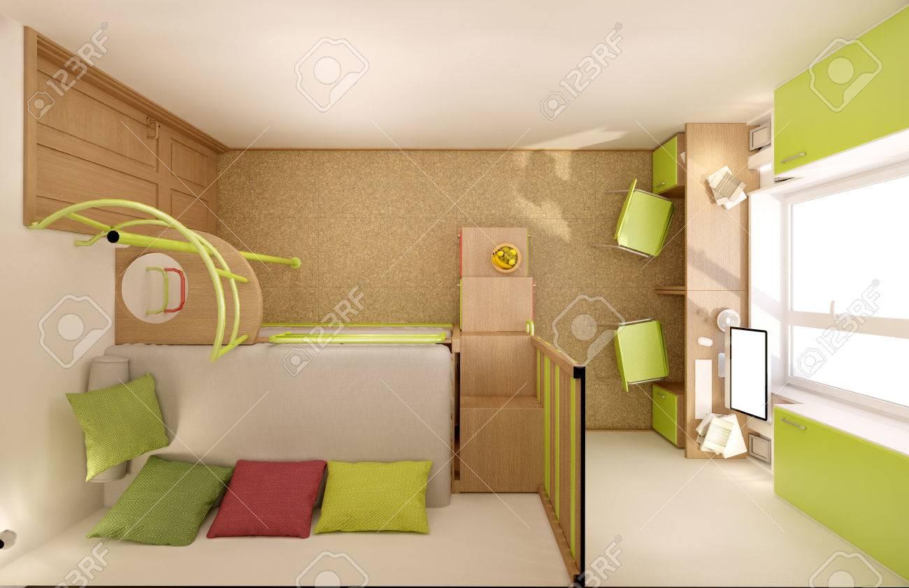 Etagenbett Für Zwei Kinder : Kinderbett für zwei kinder u elegante etagenbett mit rutsche