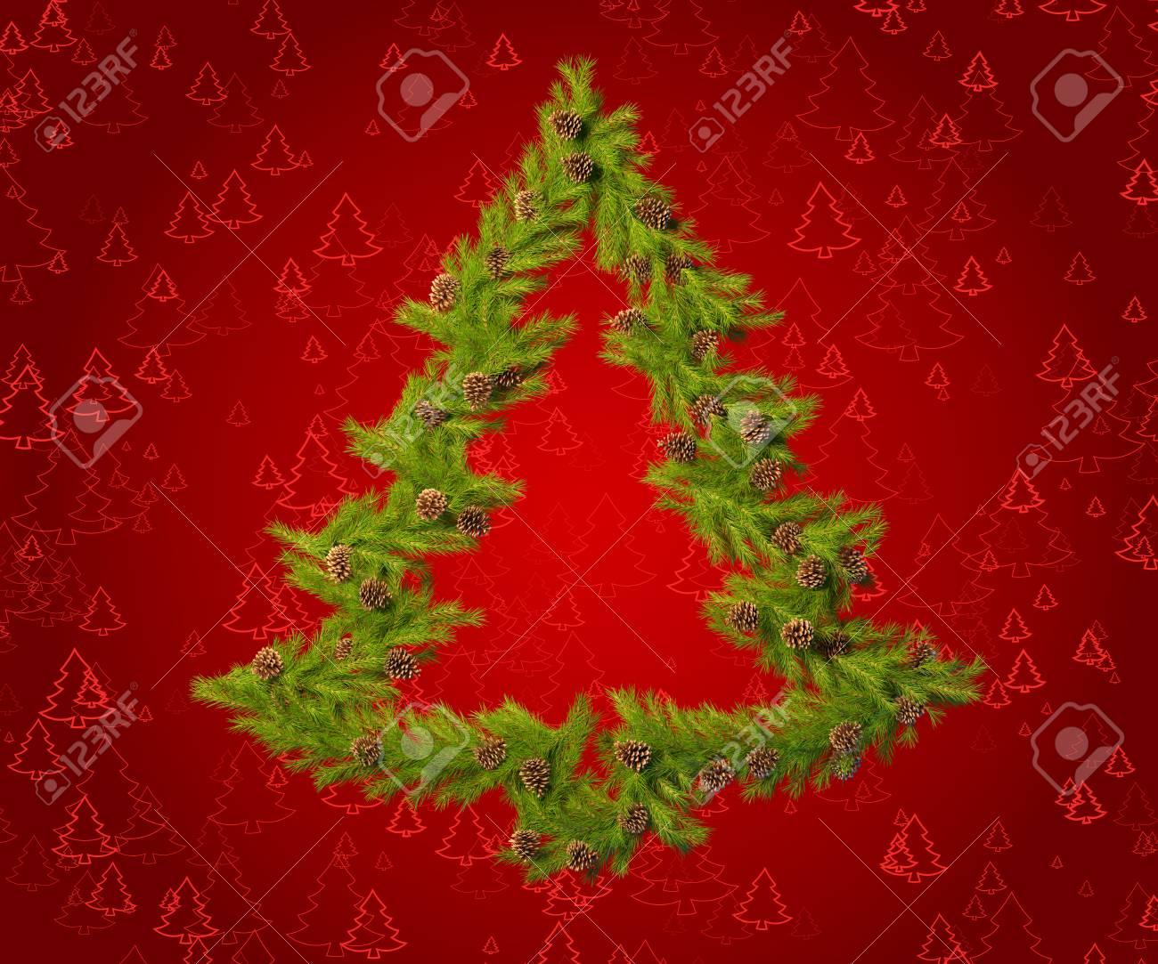 Formas De Decorar En Navidad.Corona De Navidad En La Forma De Un Arbol De Navidad Para Decorar Su Habitacion En La Vispera De Ano Nuevo