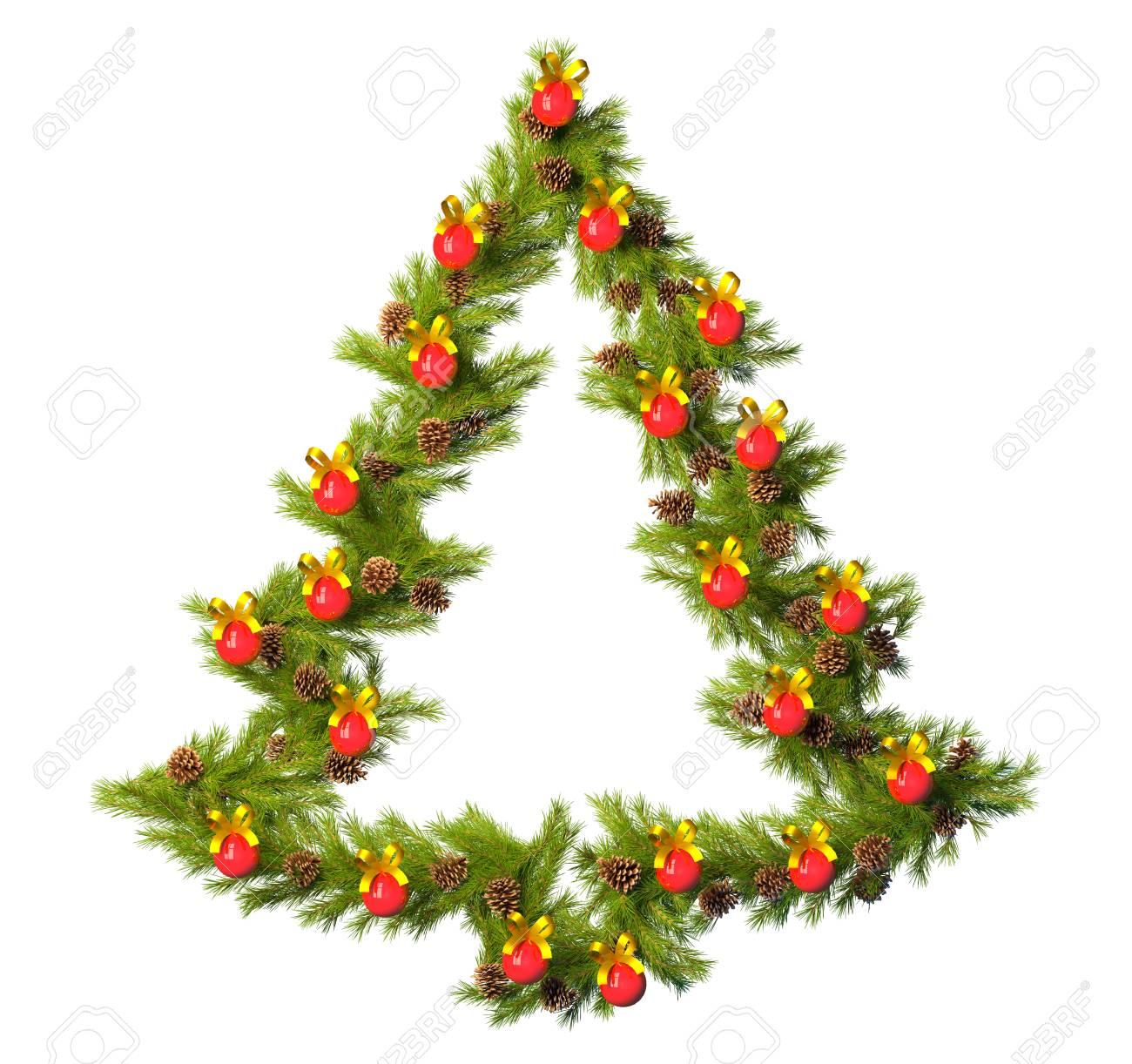 Estrellas De Navidad Para Decorar.Corona De Navidad Con Forma De Estrella De Navidad Aislado En Blanco Para Decorar Su Habitacion En La Vispera De Ano Nuevo