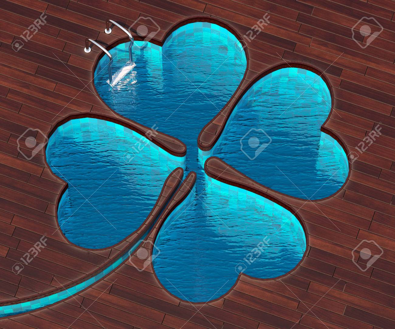 The Picture Combines The Icon Clover And A Cool Pool Swimming Stock Photo Picture And Royalty Free Image Image 53331749