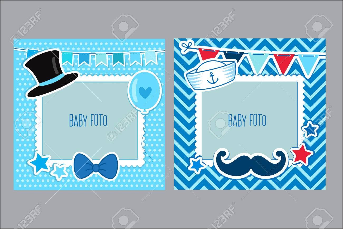 Marcos De Fotos Para Niños. Plantilla Decorativo Para El Bebé ...