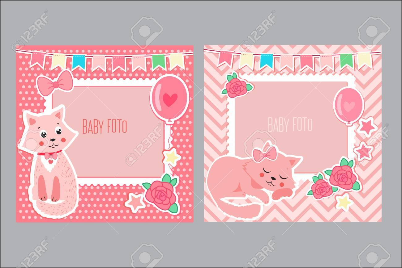 photo frames for kids decorative template for baby girl scrapbook