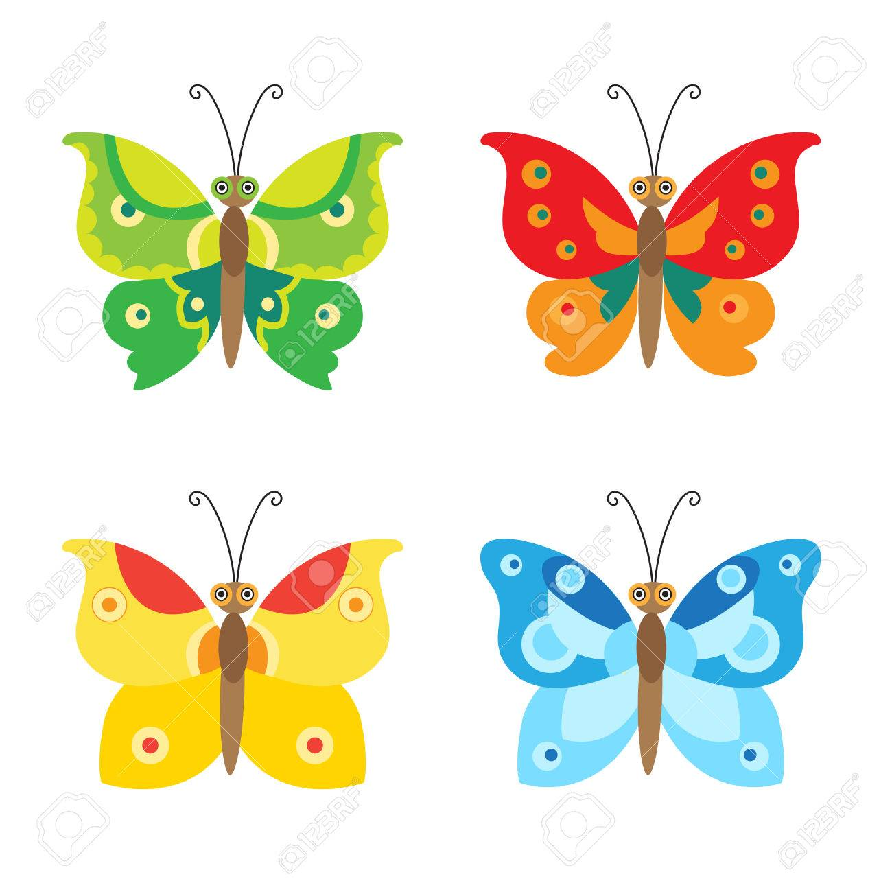 butterfly vector set icons set of simple flying butterfly vector rh 123rf com free butterfly vector silhouette free butterfly vector clip art