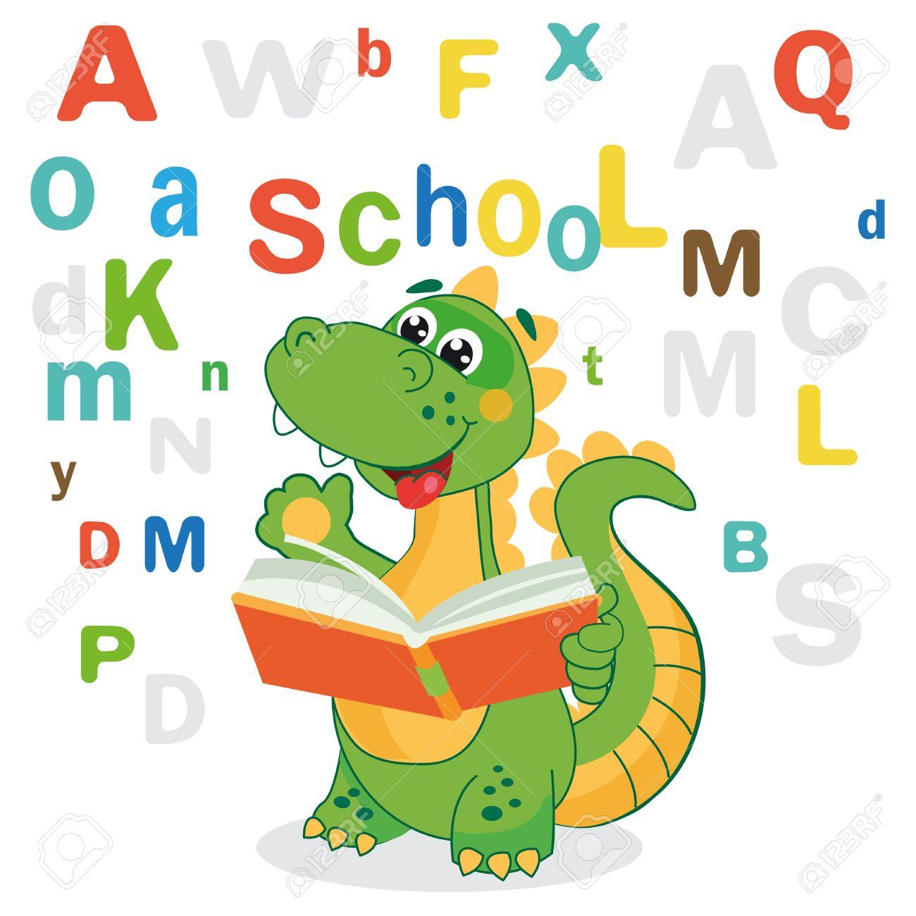 Dinosaurio Divertido Aprender A Leer Bibliográficas Y Cartas De ...