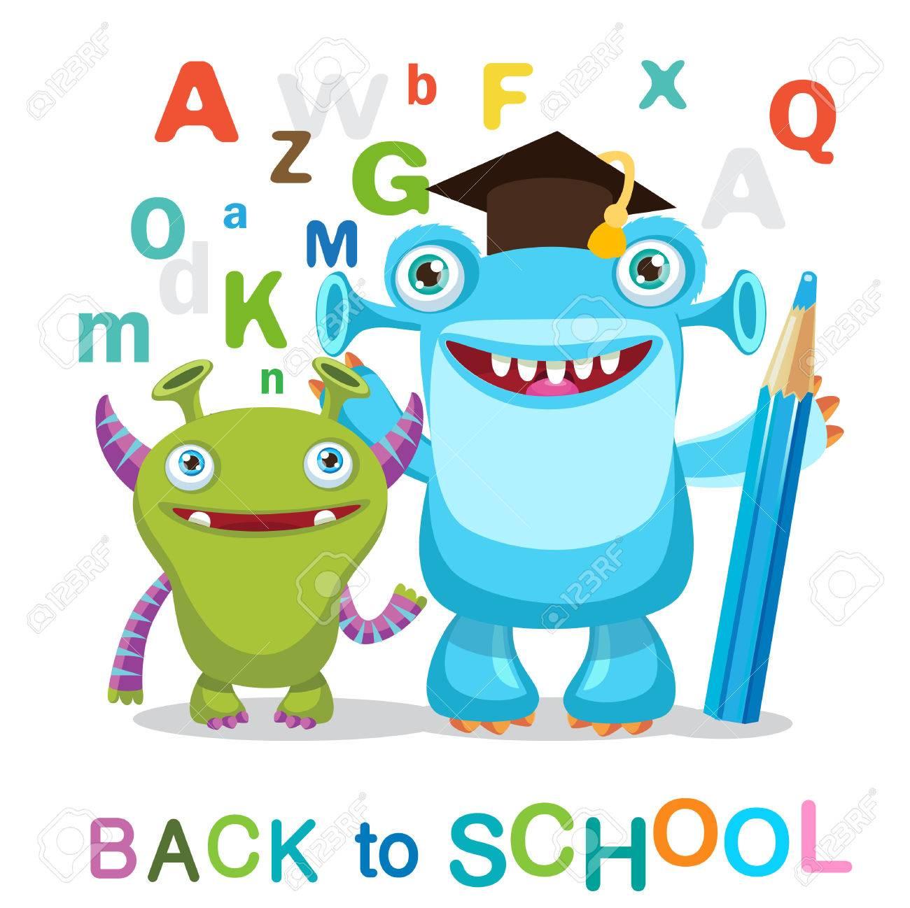 Resultado de imagen de back to school monsters