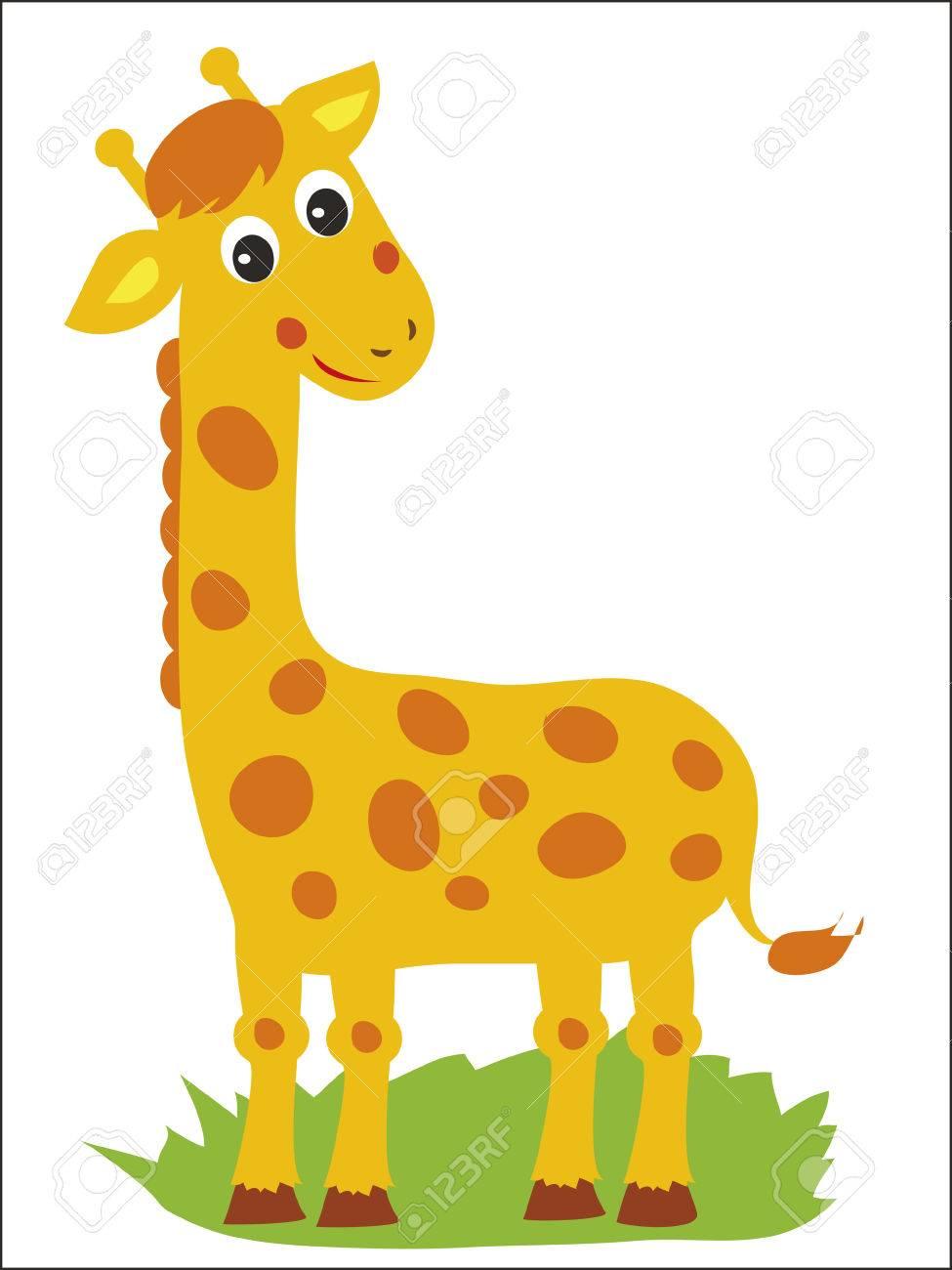 giraffe vector giraffe standing giraffe african animal jolly rh 123rf com giraffe vector silhouette giraffe vector free download