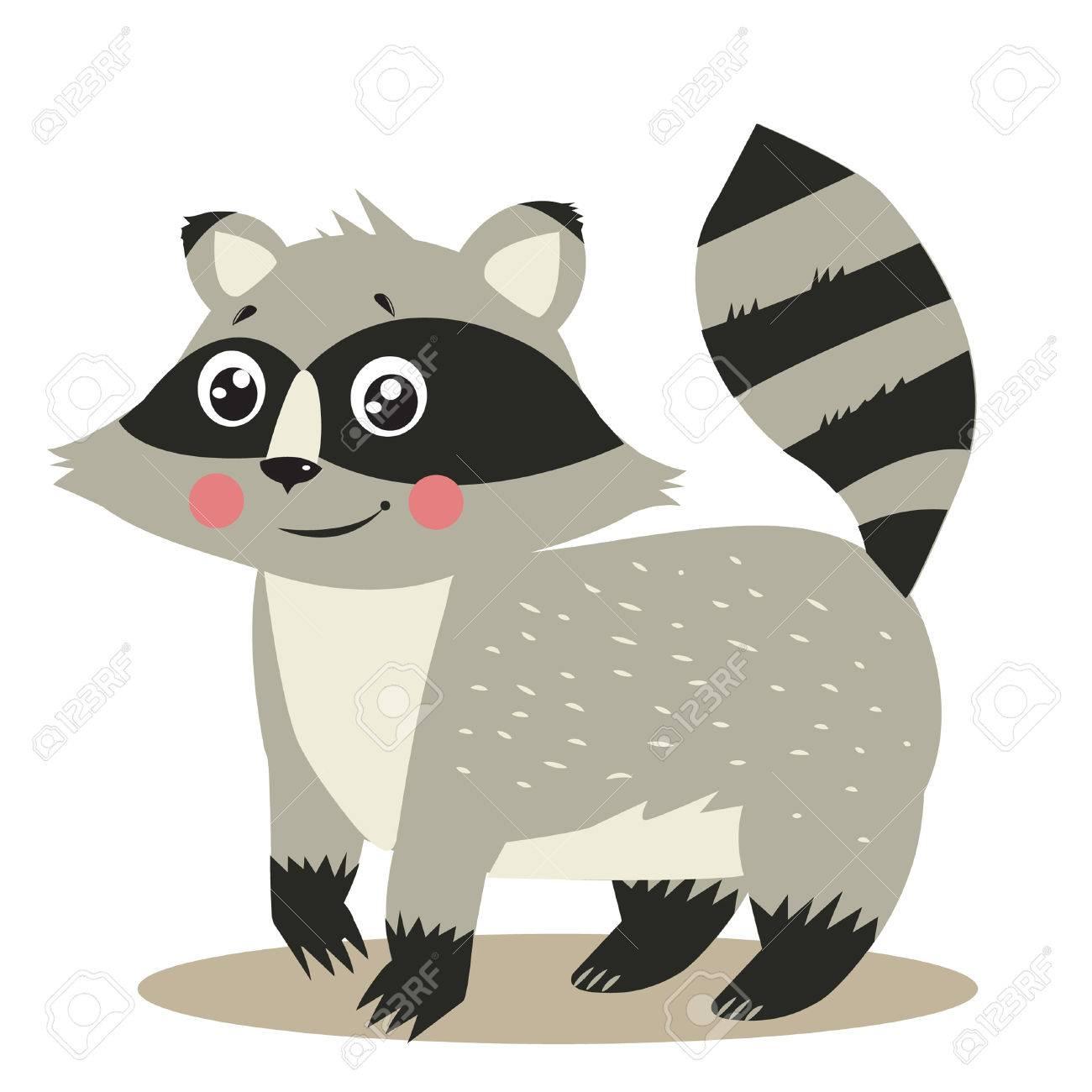 Raccoon tail cartoon