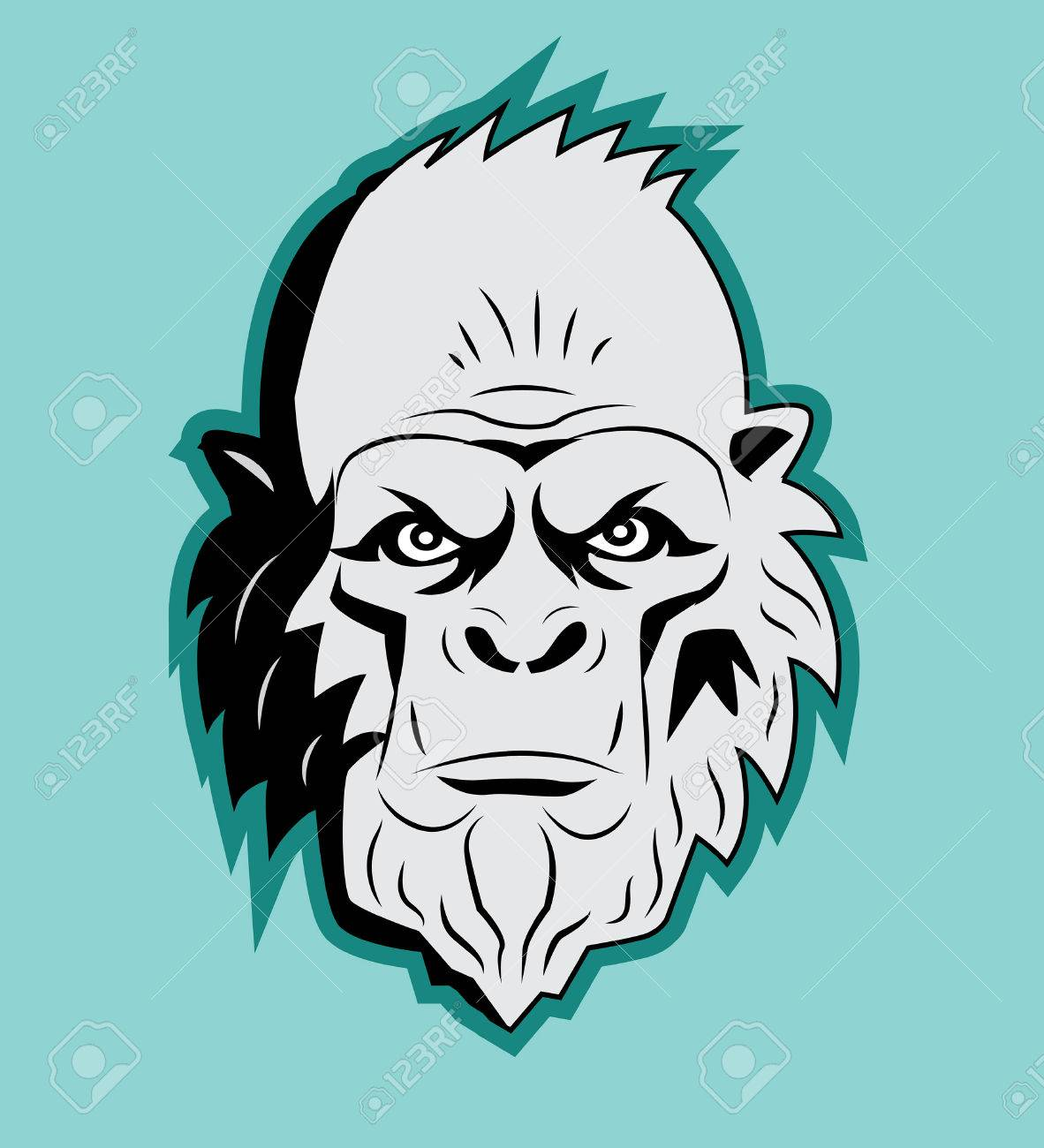 Yeti Bigfoot Head Vector Sasquatch Abominable Snowman Yeti