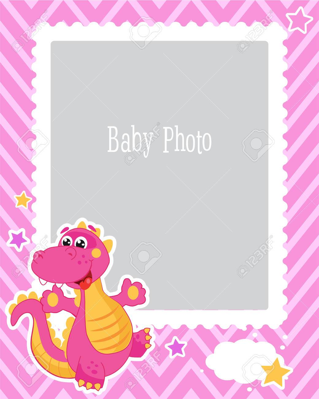 photo frame design for kids with dinosaur decorative template