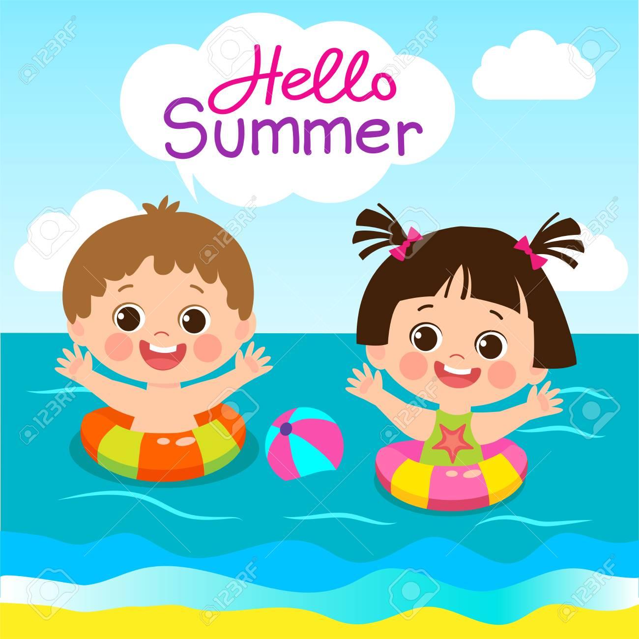 Fun Summer Activities For Kids Summer Kids Vector Happy Children